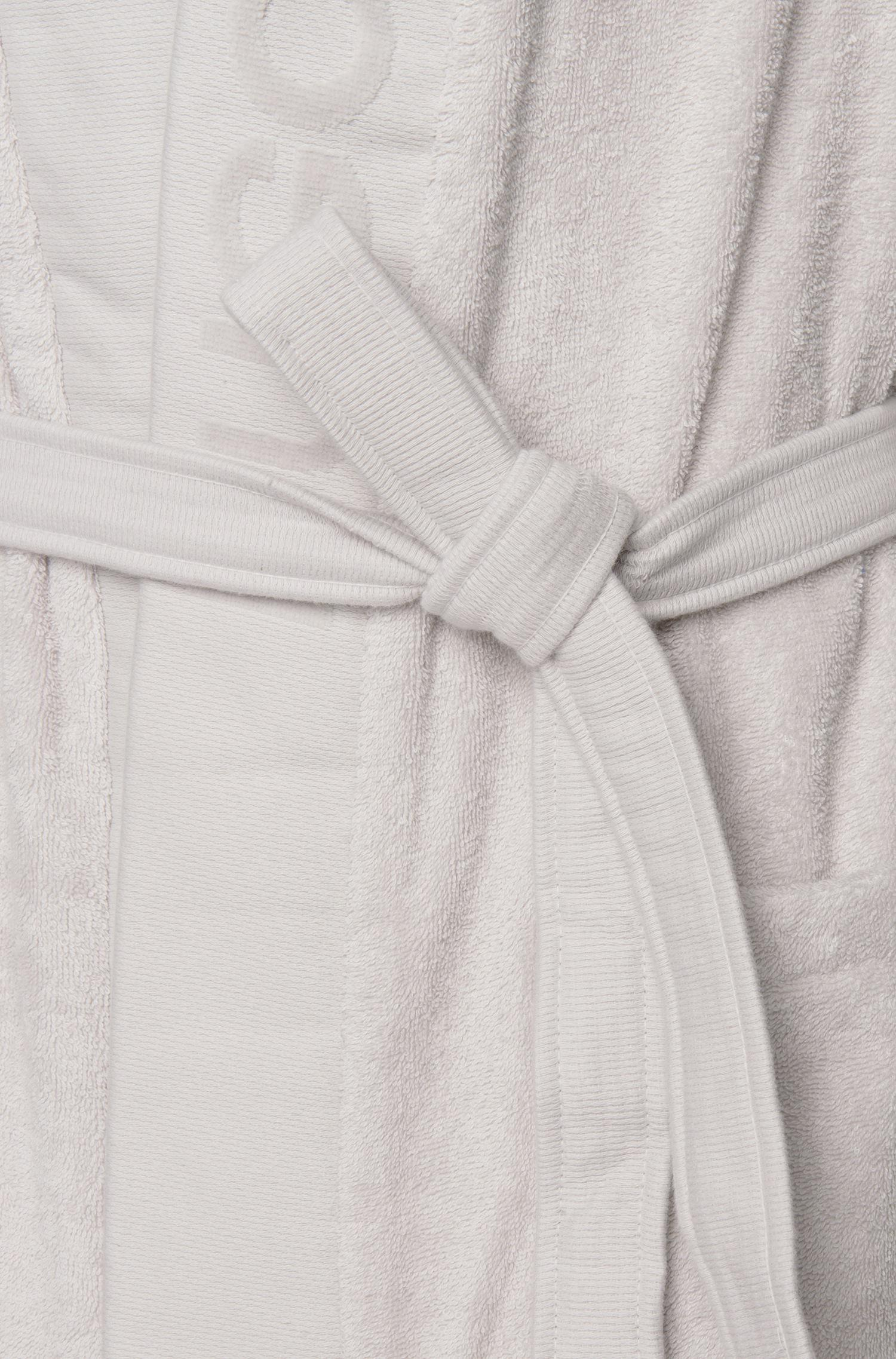Boss Hooded Dressing Gown In Egyptian Cotton in Metallic for Men - Lyst