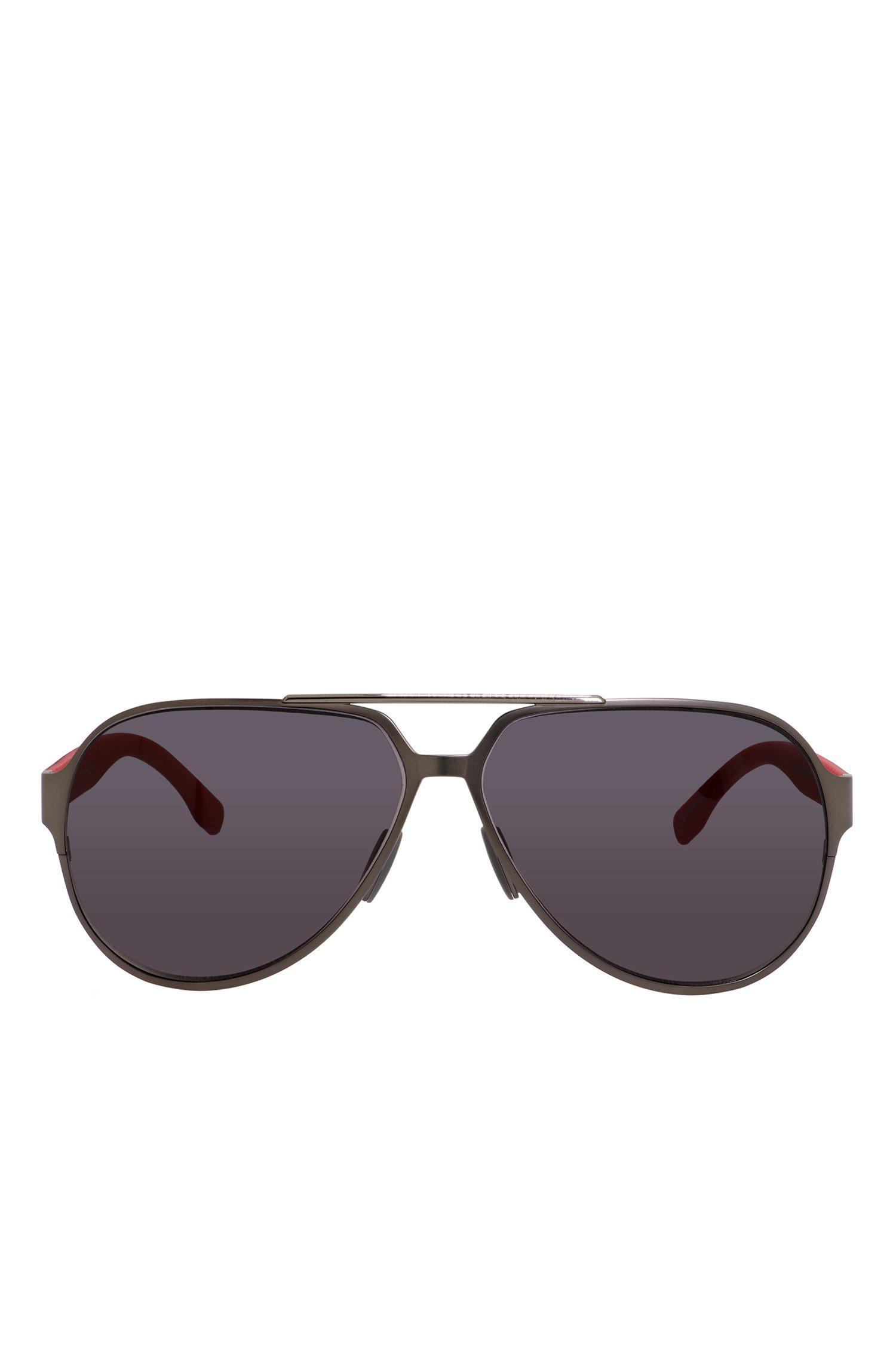 7b7114913288 Lyst - BOSS Black Lens Carbon Fiber Aviator Sunglasses | 0669s in ...