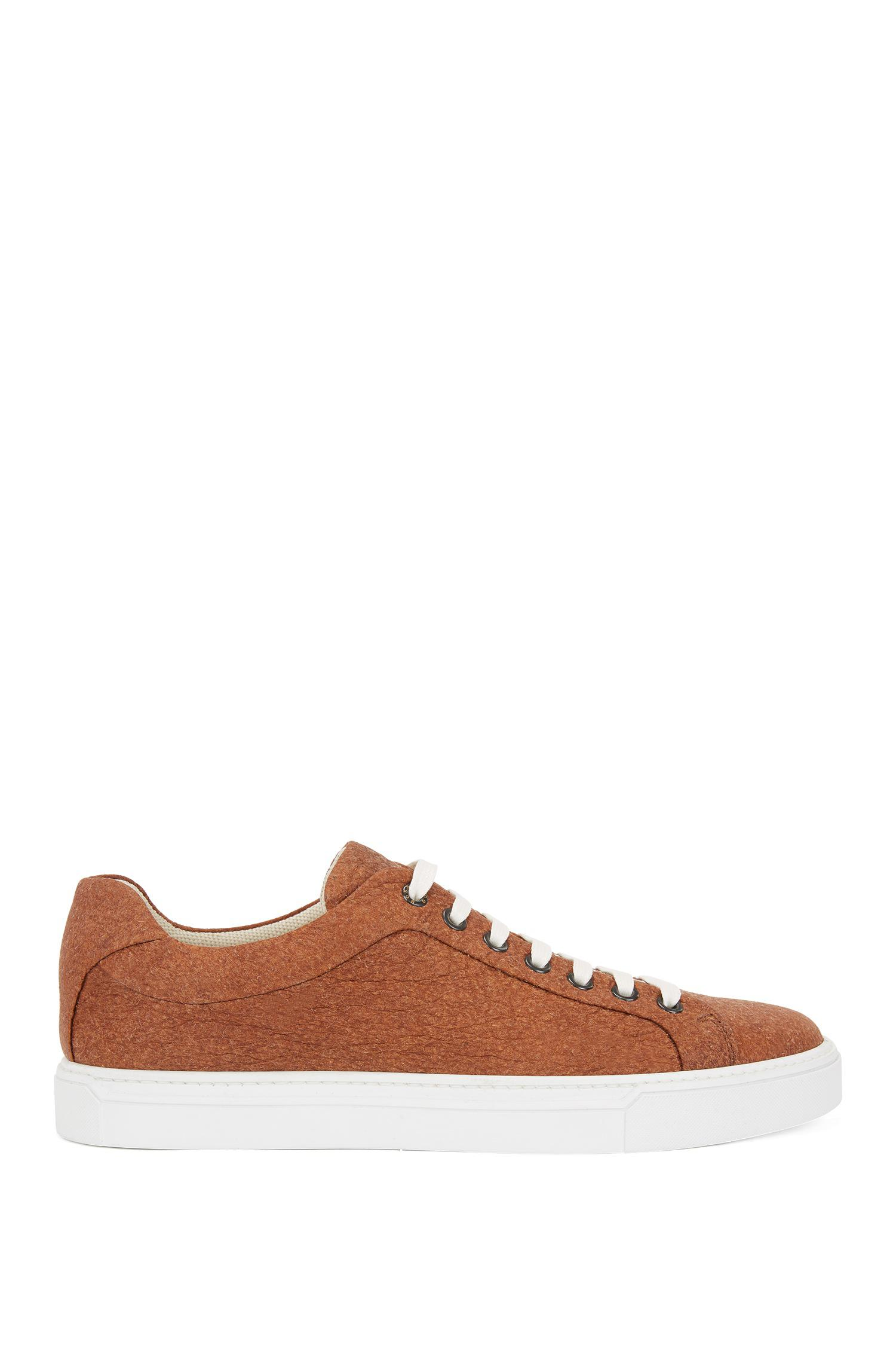 2884eb9d1f5 Lyst - BOSS Limited-edition 100% Vegan Sneakers In Piñatex® in Brown ...