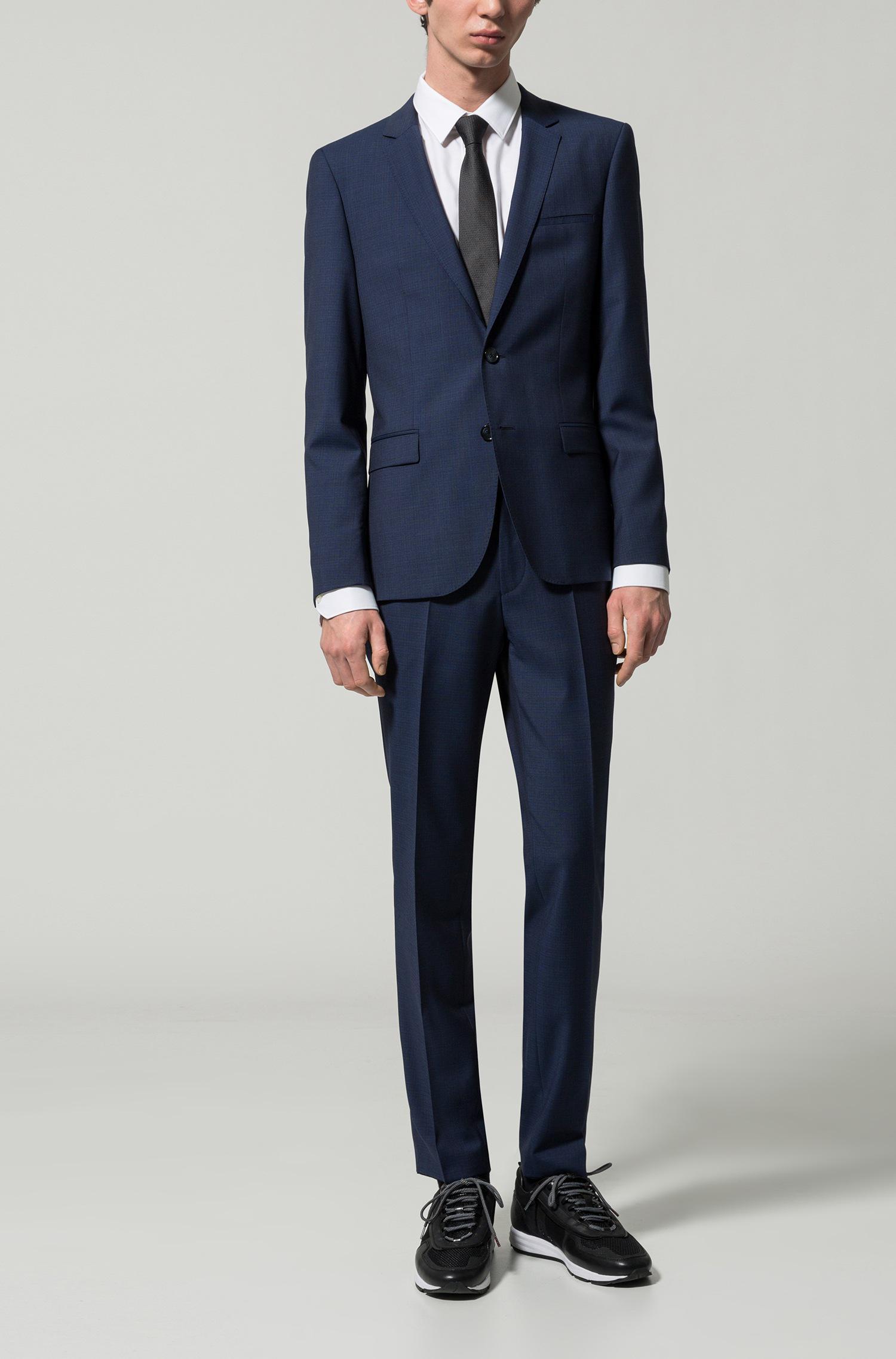 affa645d HUGO Italian Virgin Wool Suit, Extra Slim Fit | Arti/hesten in Blue ...