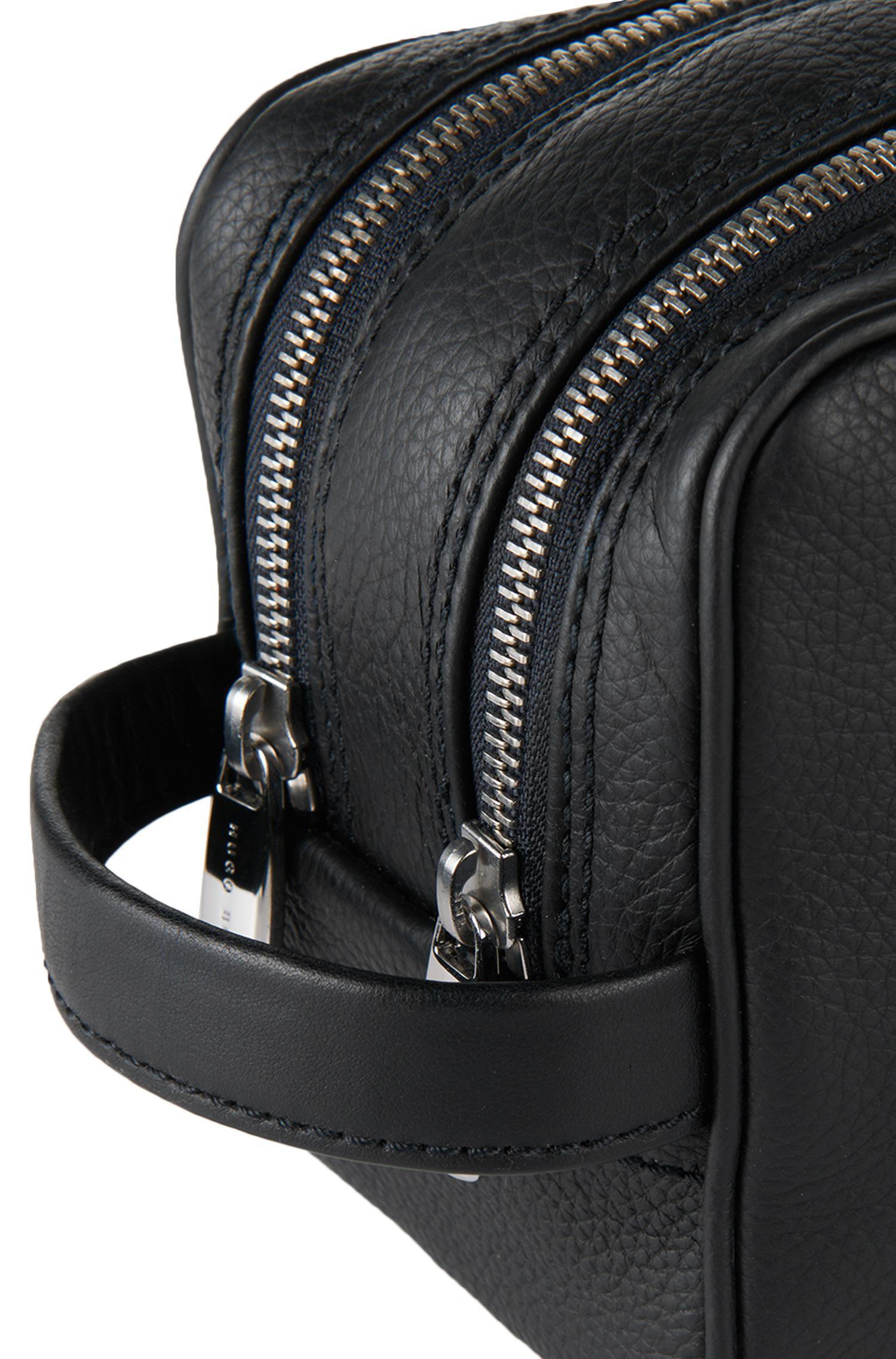 272cfef4882c BOSS Leather Wash Bag   traveller washbag  in Black for Men - Lyst