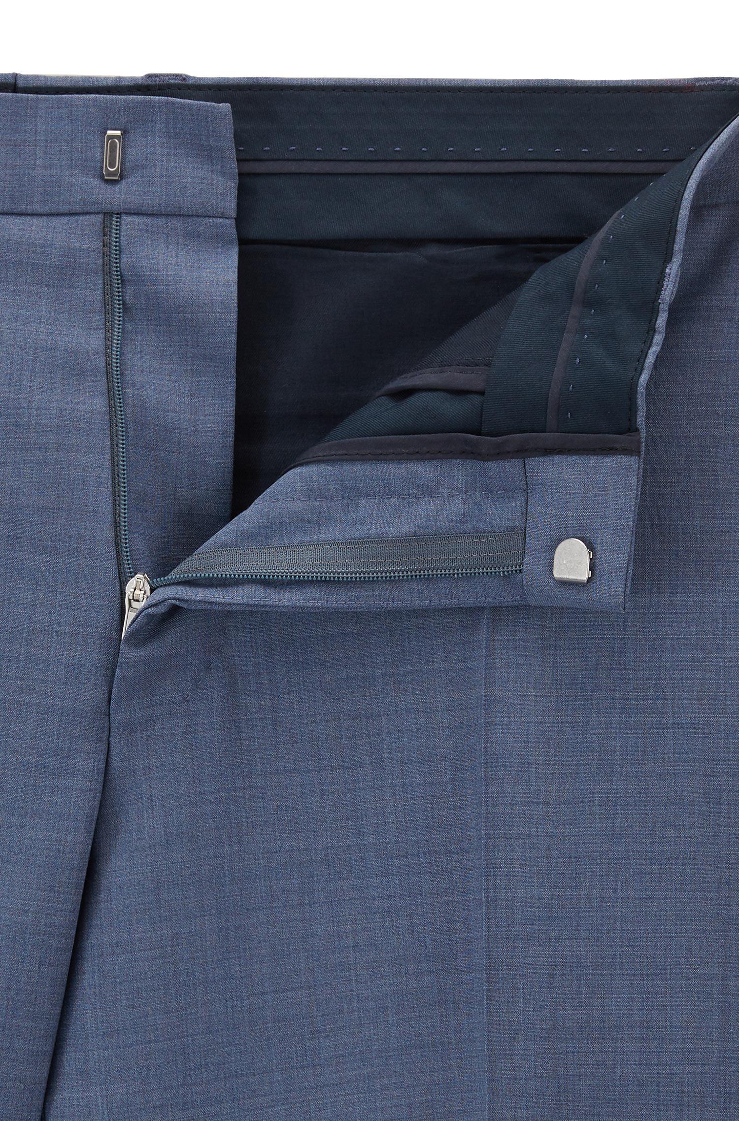 943daa4d BOSS Virgin Wool Suit, Regular Fit | Phoenix/madisen in Blue for Men ...