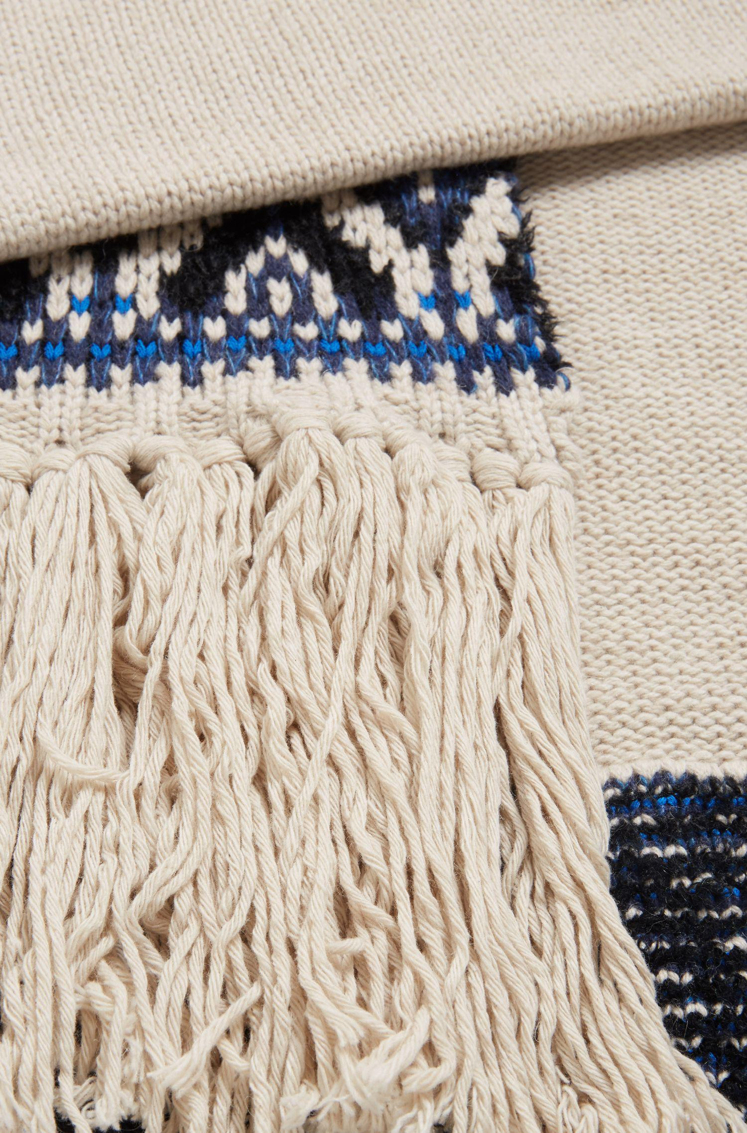 Lyst Boss Fair Isle Scarf In A Blended Boucle Yarn For Men