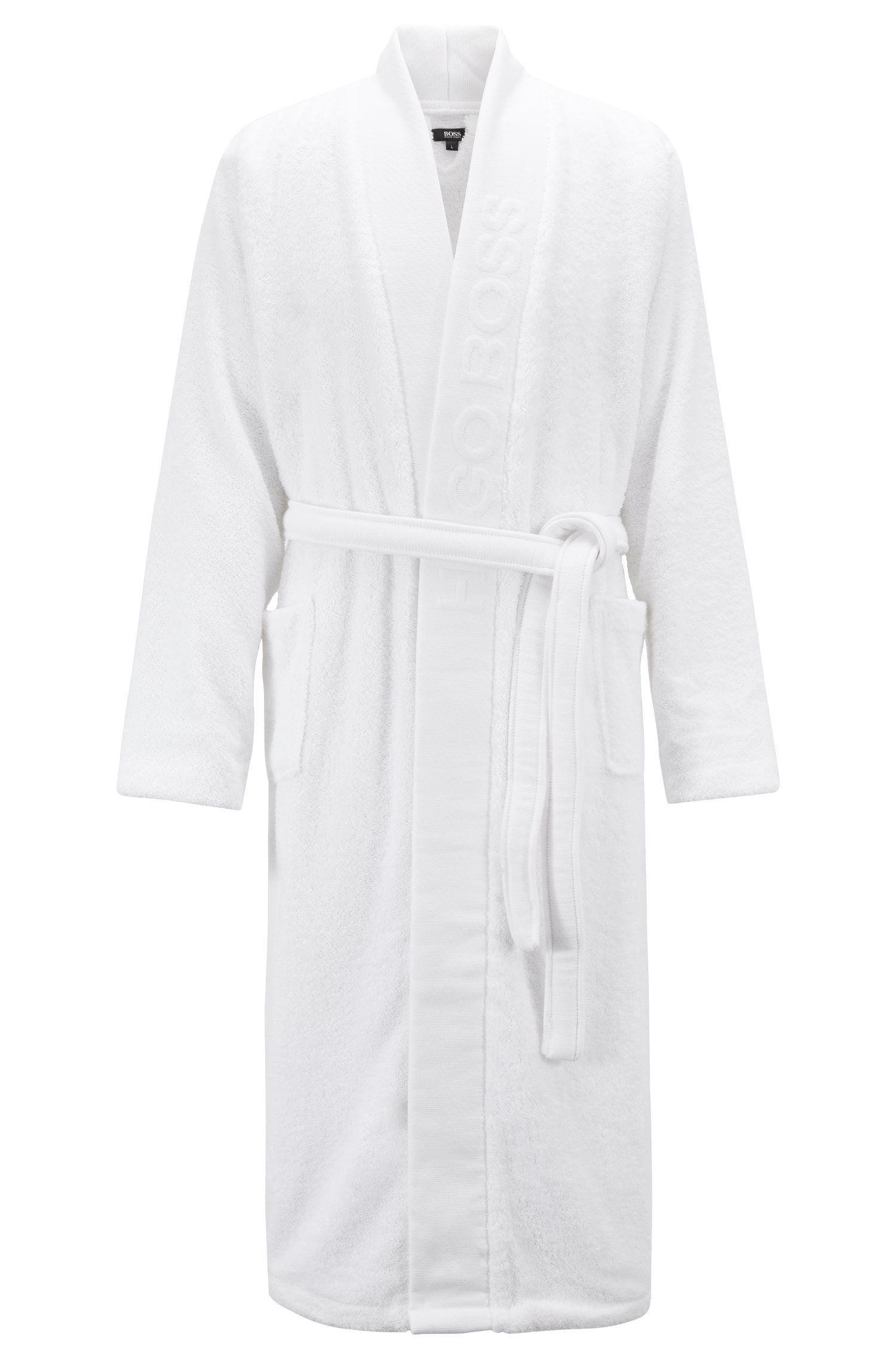 3eb41b7816 BOSS - White Unisex Dressing Gown In Egyptian Cotton for Men - Lyst. View  fullscreen