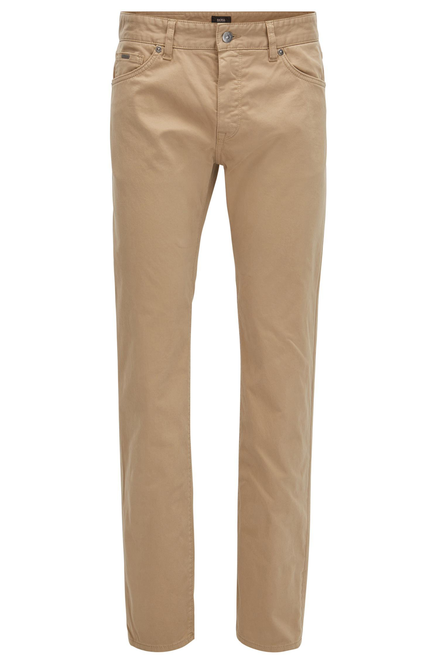 957910cedb Boss Regular-fit Jeans In Diamond-brushed Stretch Satin in Natural ...