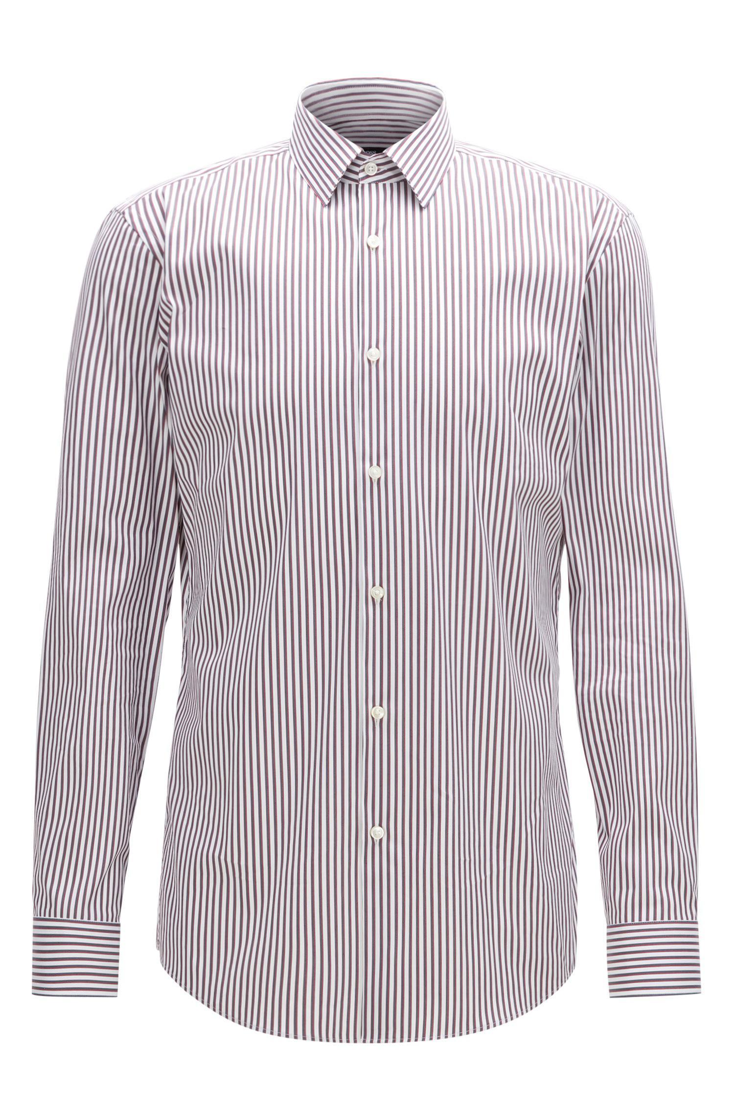 510fbfb3 Lyst - BOSS Striped Stretch Cotton Dress Shirt, Slim Fit | Isko in ...