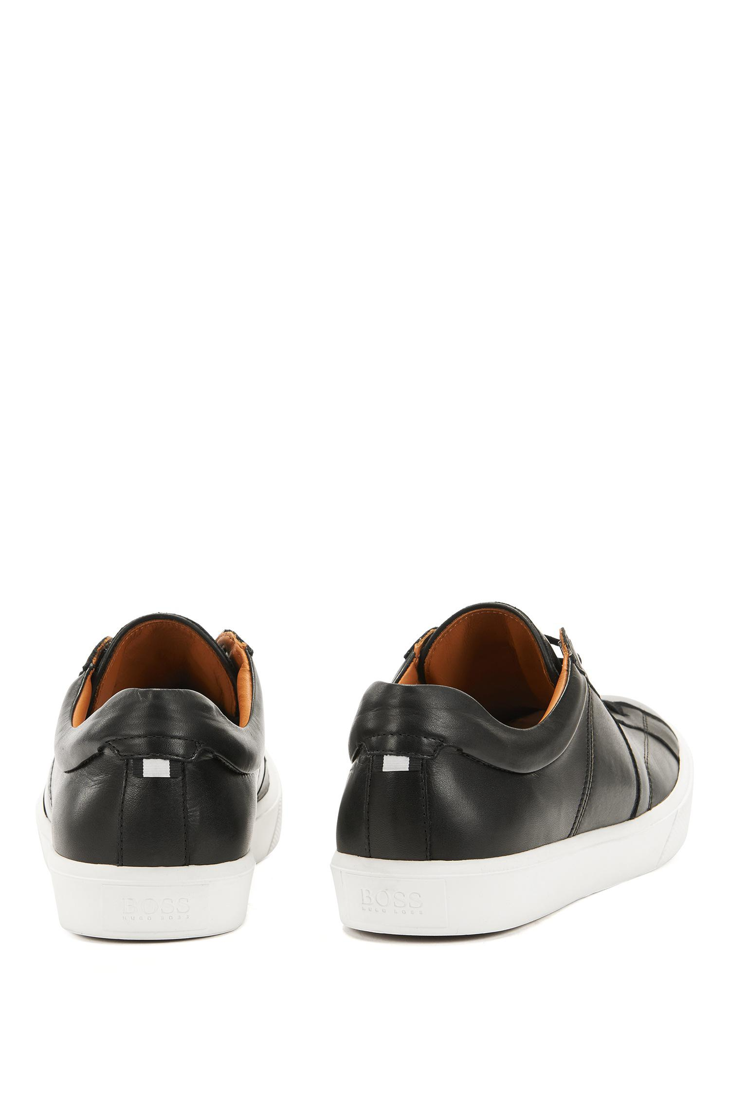 Tennis-style trainers in Italian calf leather BOSS ifTDqF