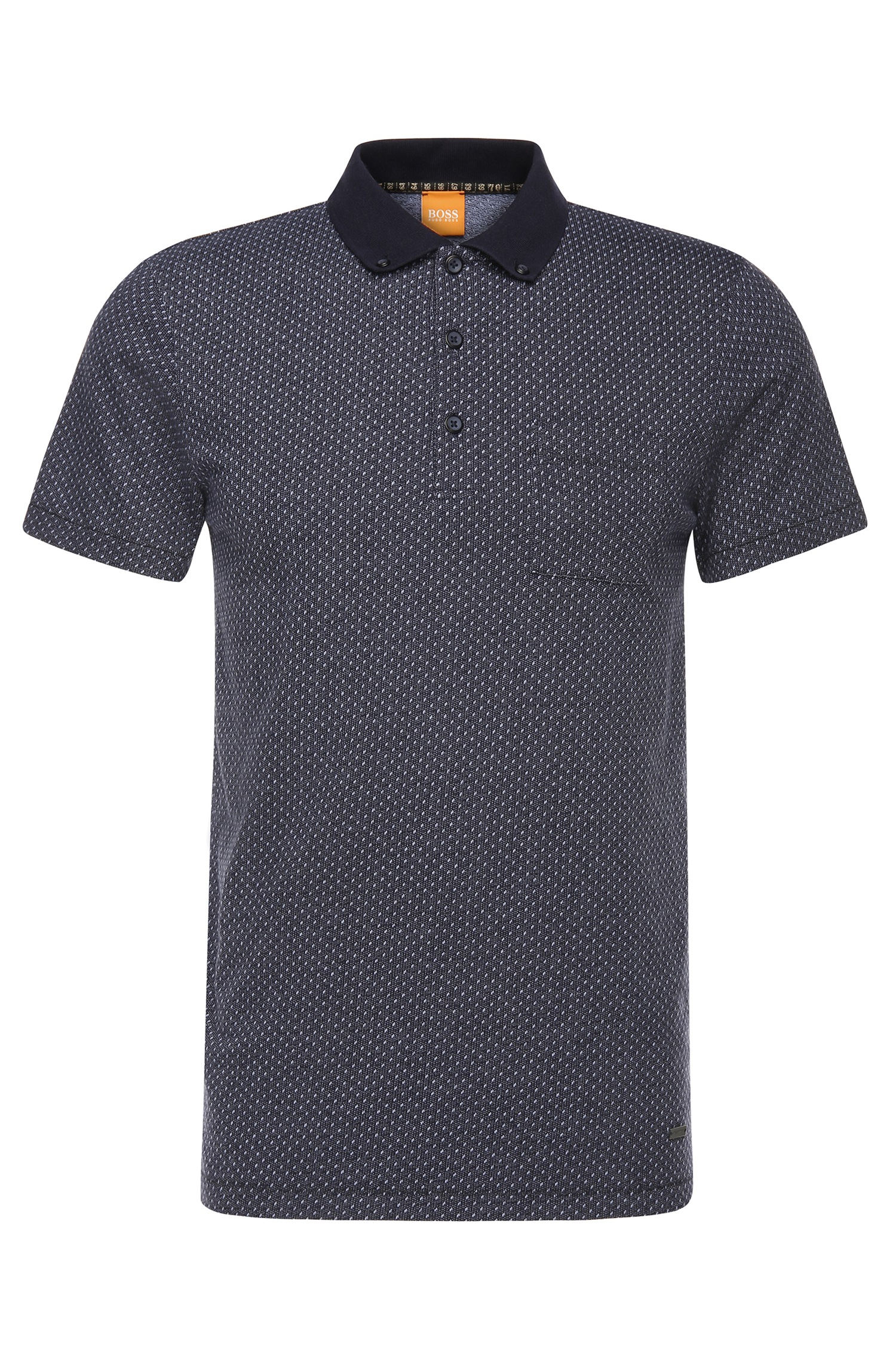Lyst boss orange slim fit polo shirt in cotton with for Cotton and elastane t shirts