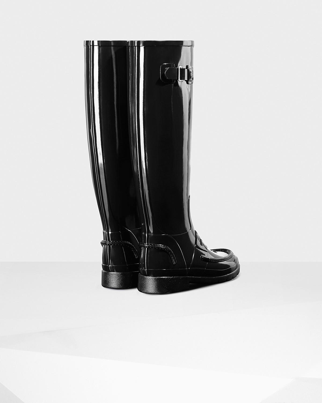 Hunter Original Refined Penny Loafer Tall Waterproof Rain Boot 26OoHQ6Jq