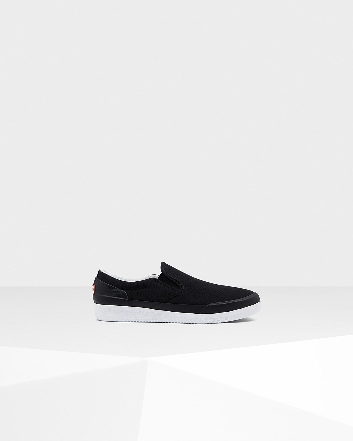 Hunter Original Canvas Plimsole Slip-On Sneaker q5bgg