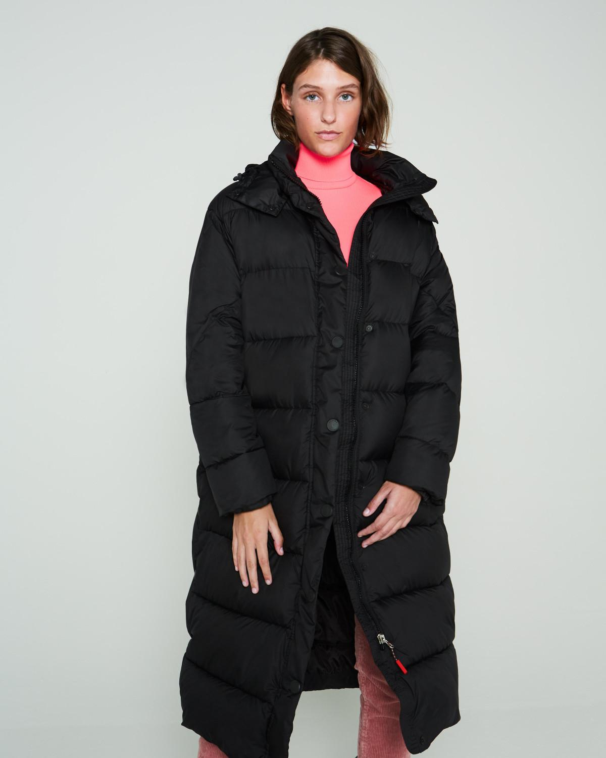 6531248f69465 HUNTER Original Long Puffer Coat in Black - Lyst