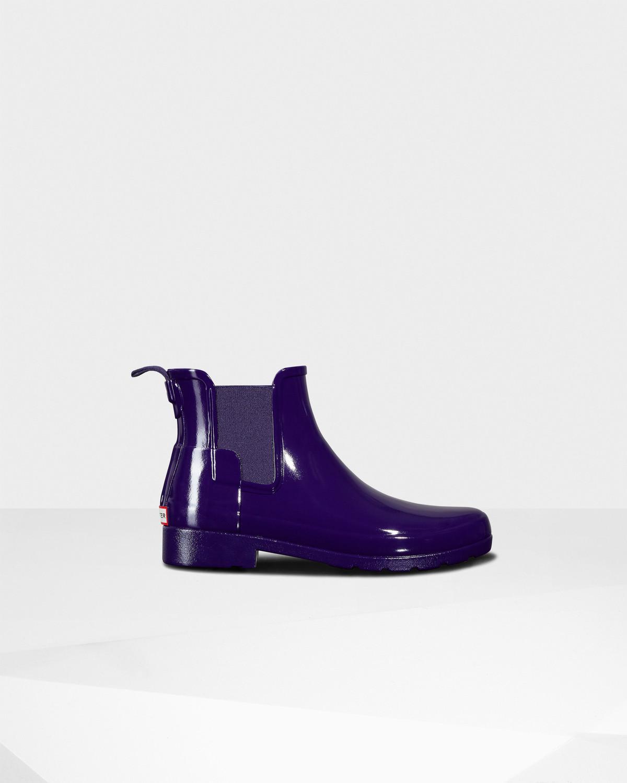 Hunter Original Refined Chelsea Gloss Violet Rq3D50fIr0