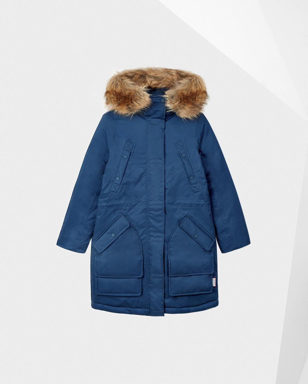 59b6ffff9a402 HUNTER Original Insulated Parka Jacket in Blue - Lyst
