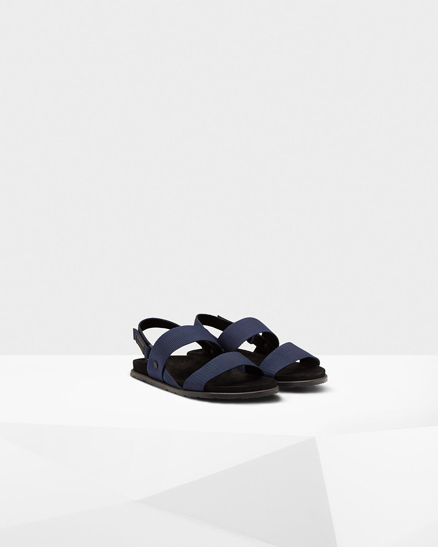 cb89b343bff459 Lyst - HUNTER Webbing Footbed Sandals in Blue for Men