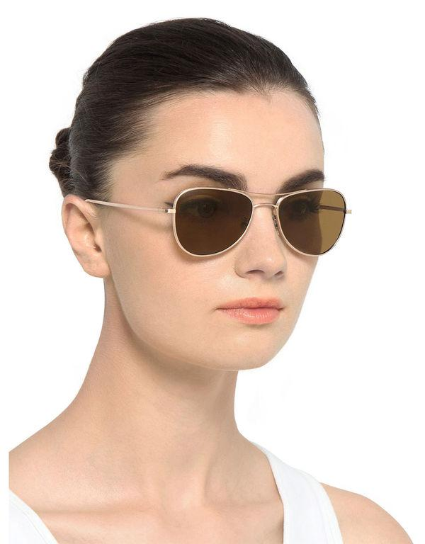 7d55bdaf67 Lyst - Oliver Peoples Executive Suite Aviator Sunglasses in Brown