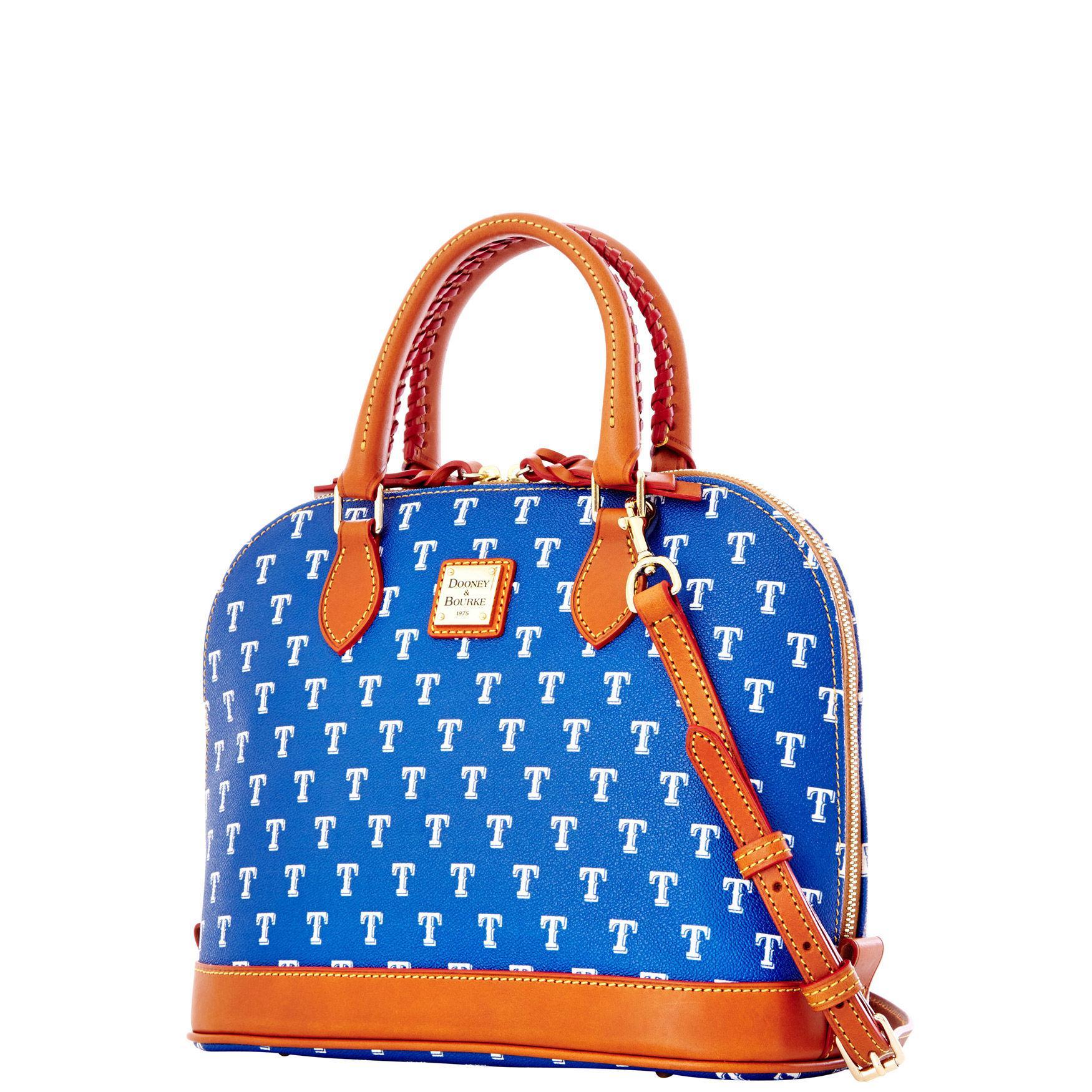 01809e4a04 Lyst - Dooney   Bourke Mlb Rangers Zip Zip Satchel in Blue