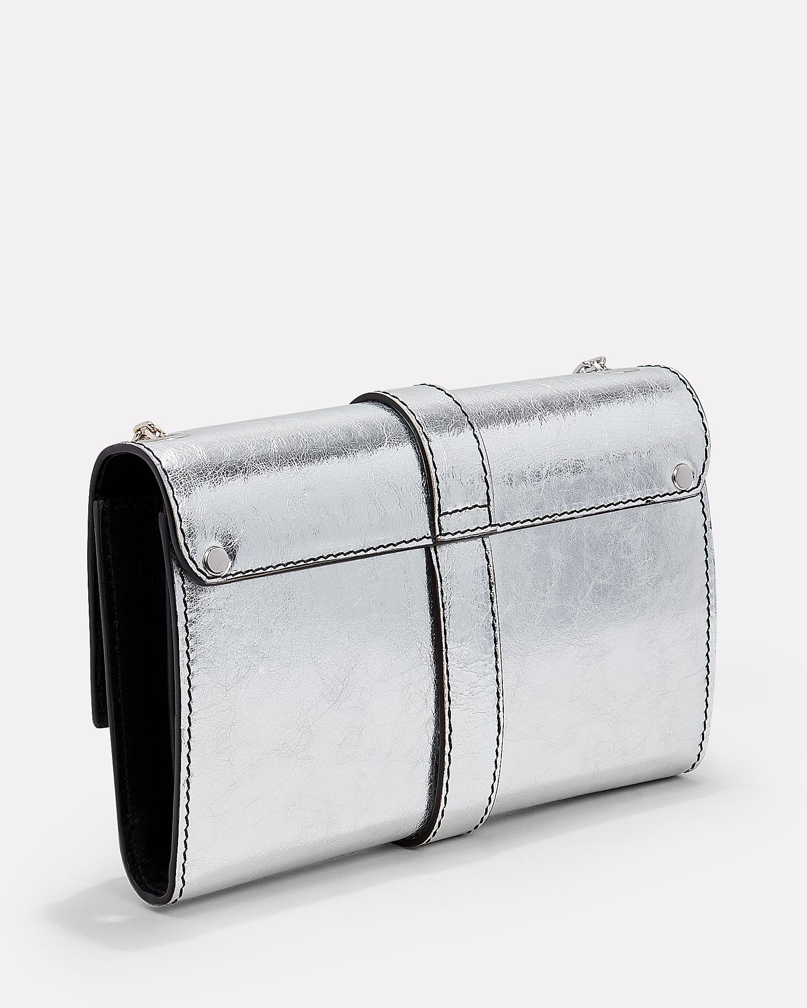 88916edf5a50 Lyst - Proenza Schouler Ps11 Silver Leather Clutch Chain Bag in Metallic