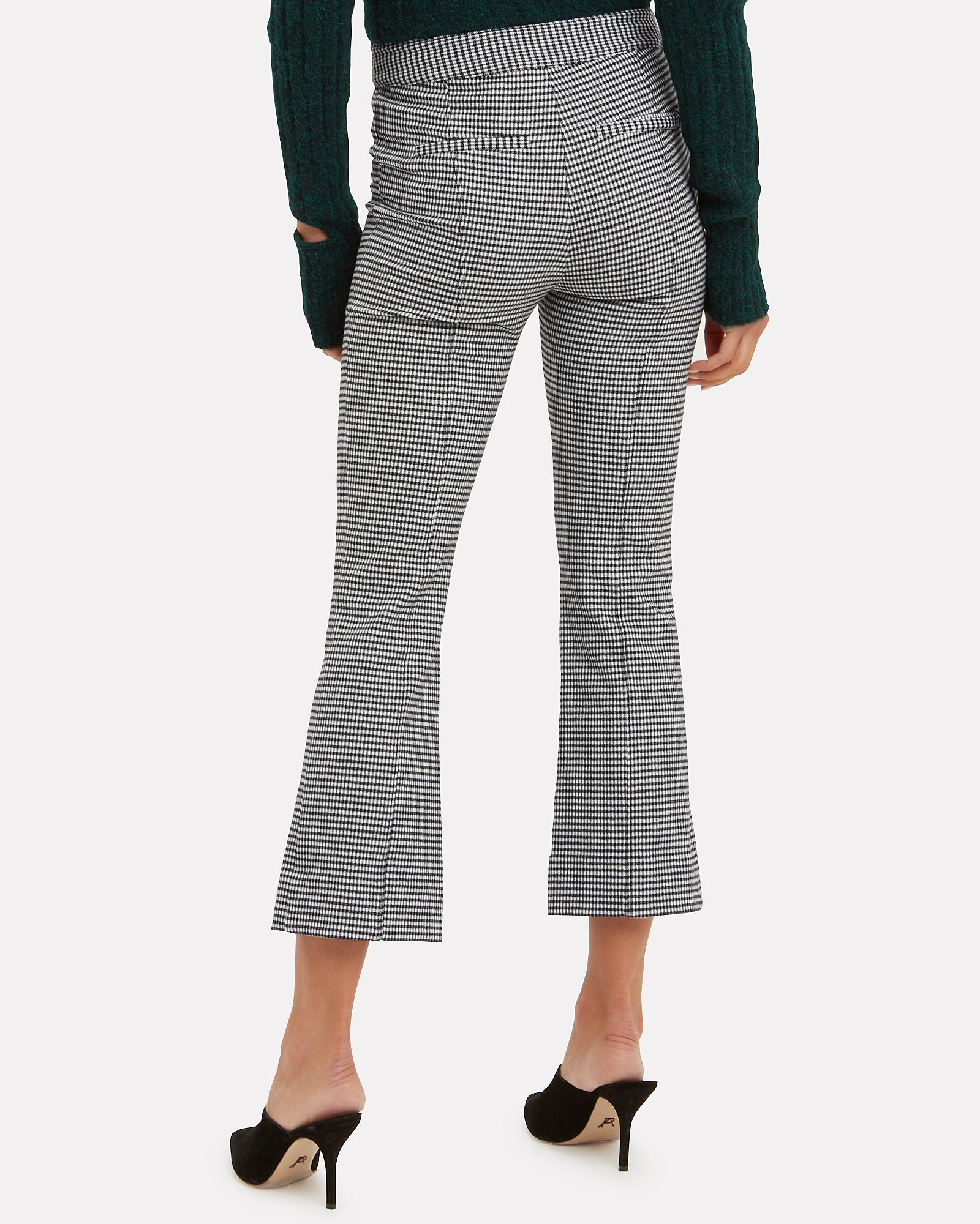 78c0ee51242a3 10 Crosby Derek Lam Houndstooth Cropped Flare Trousers Blk/wht 10 in ...
