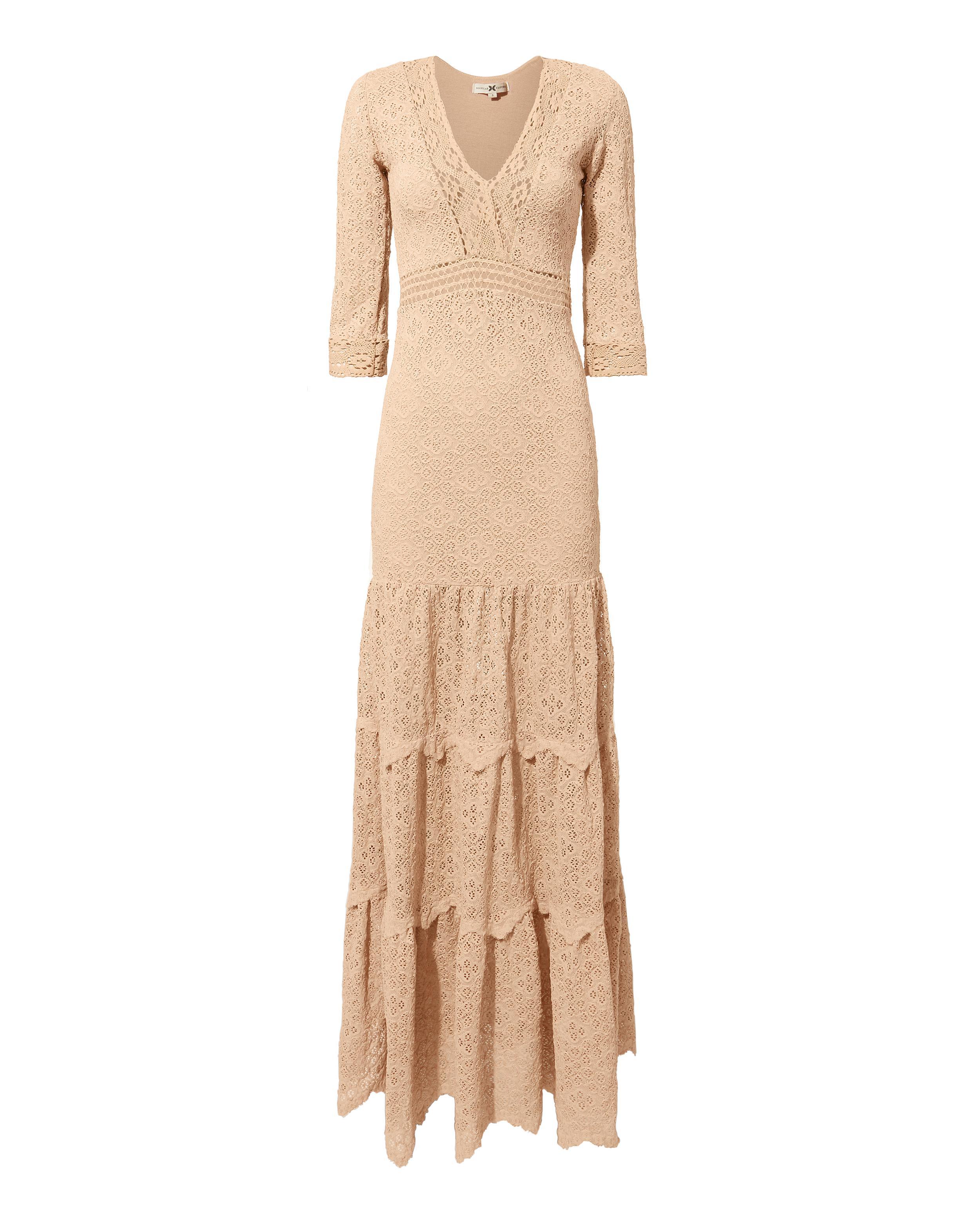 3bf1fe57386 Lyst - Nightcap Hazel Lace Maxi Dress in Pink