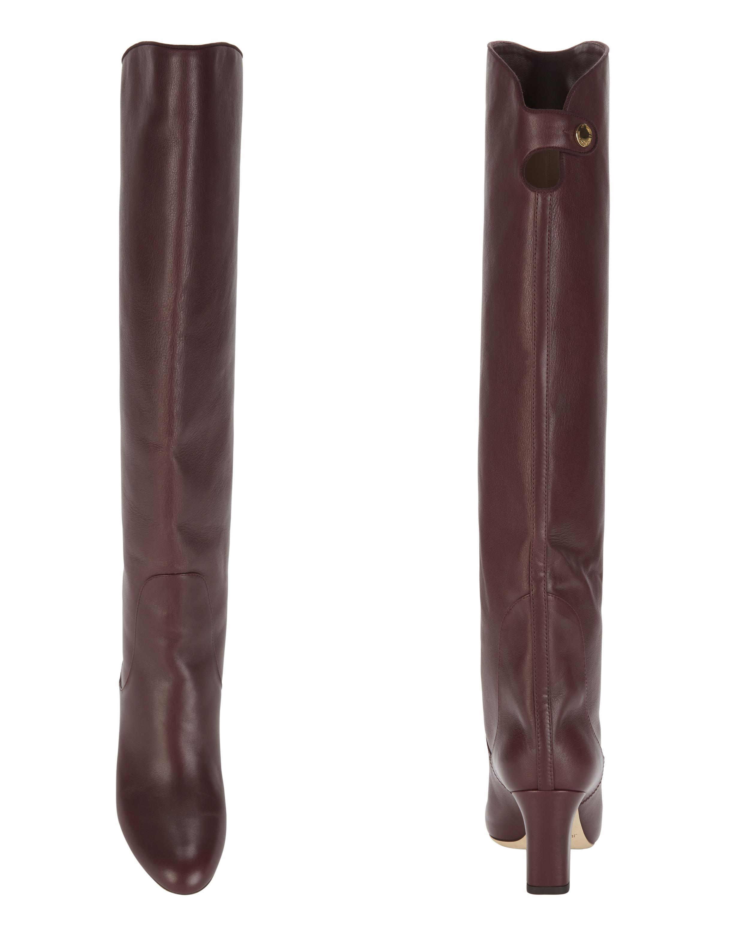f33d3f93928 Lyst - Jimmy Choo Minerva Vino Over-the-knee Boots in Red