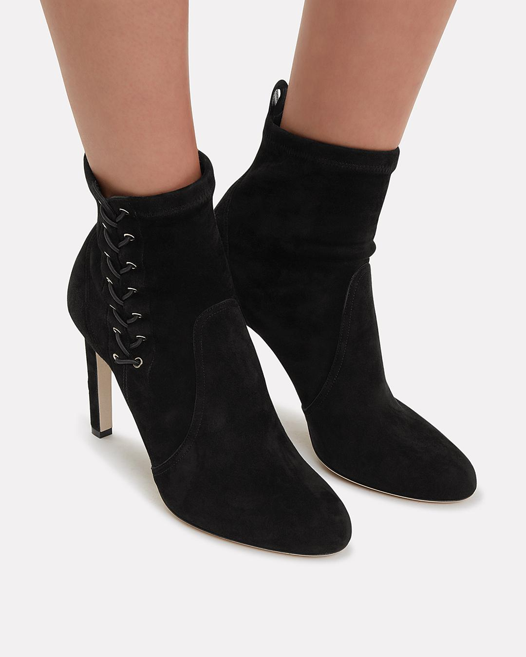 ed019822cc0 Jimmy Choo Mallory Lace Side Booties in Black - Lyst
