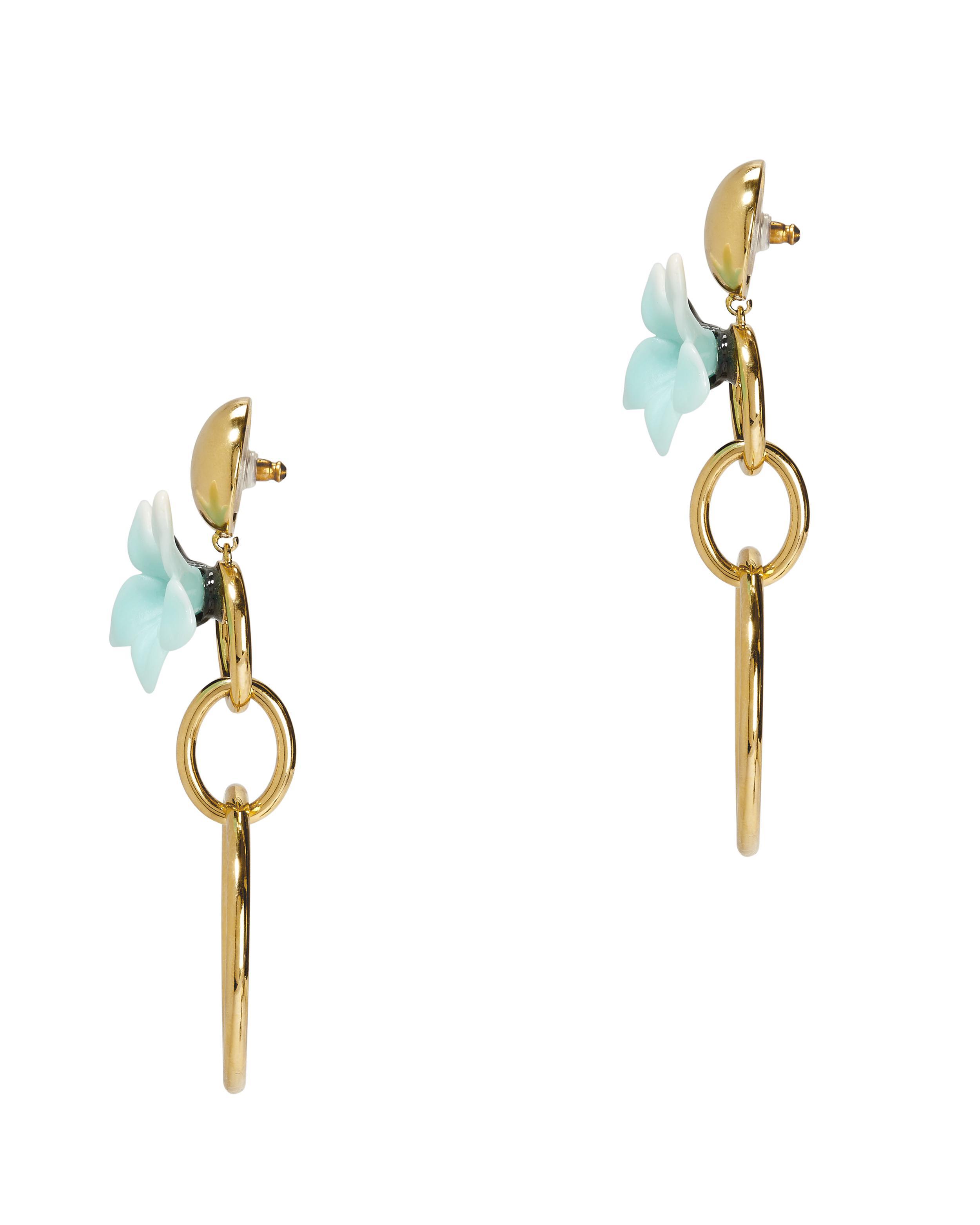 Lele Sadoughi Hibiscus Hoop Earrings pzBnz6NGR