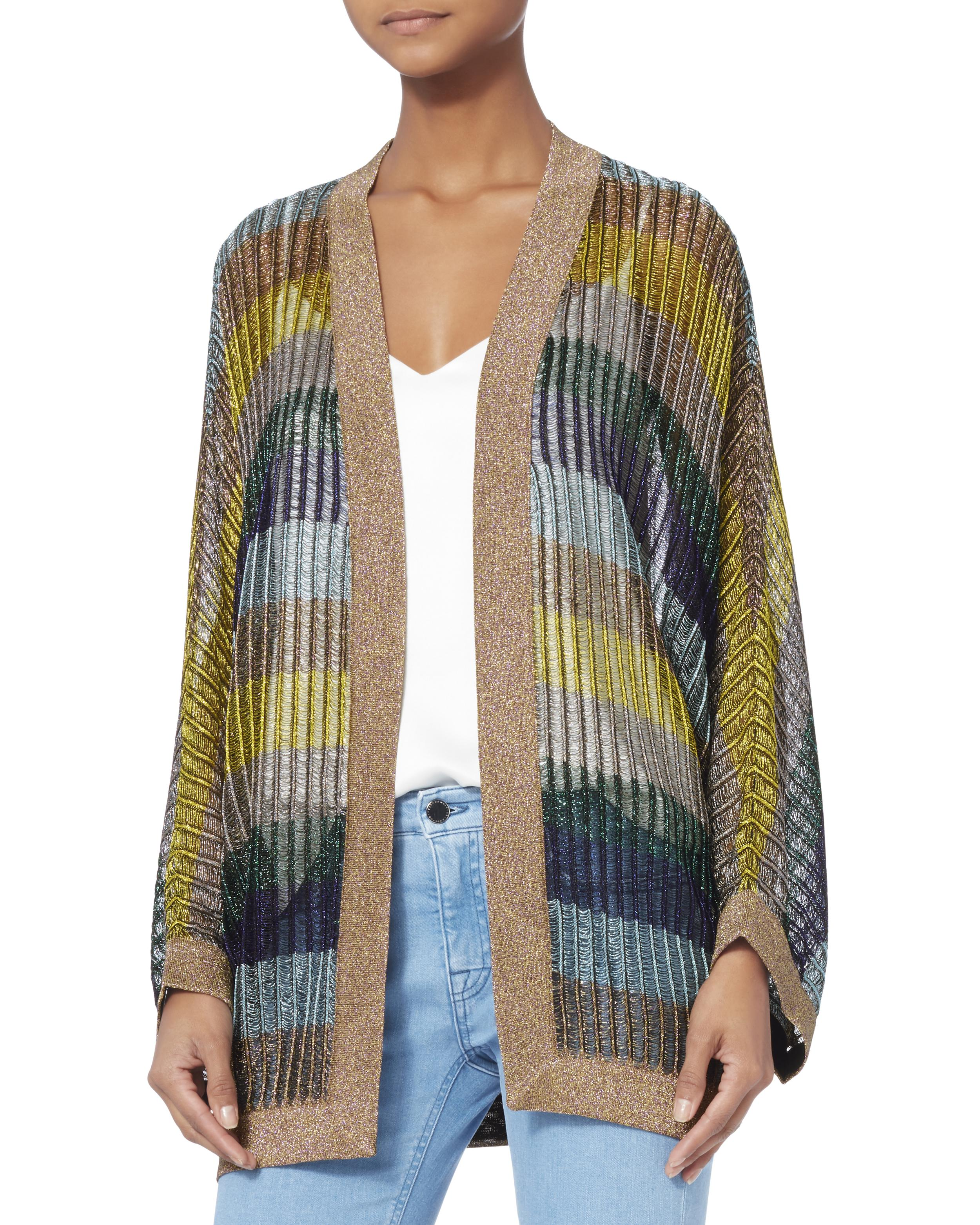 Missoni Dolman Sleeve Striped Lurex Cardigan | Lyst