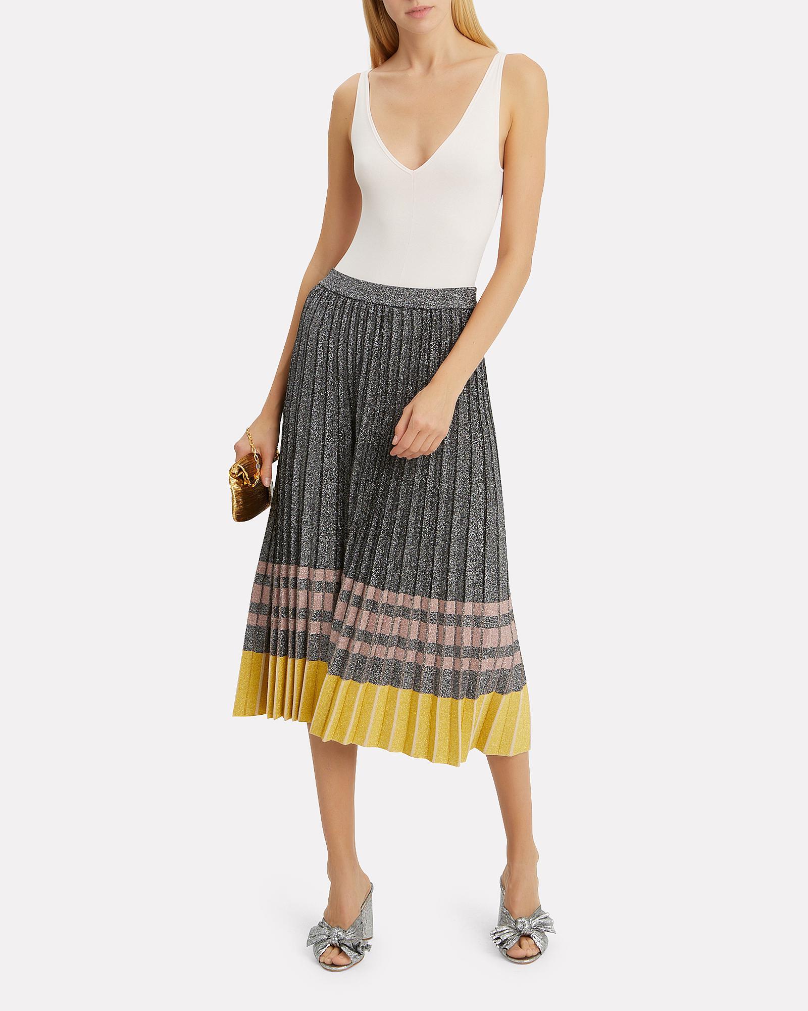 6edf07fdd5 10 Crosby Derek Lam Pleated Lurex Knit Skirt in Metallic - Lyst