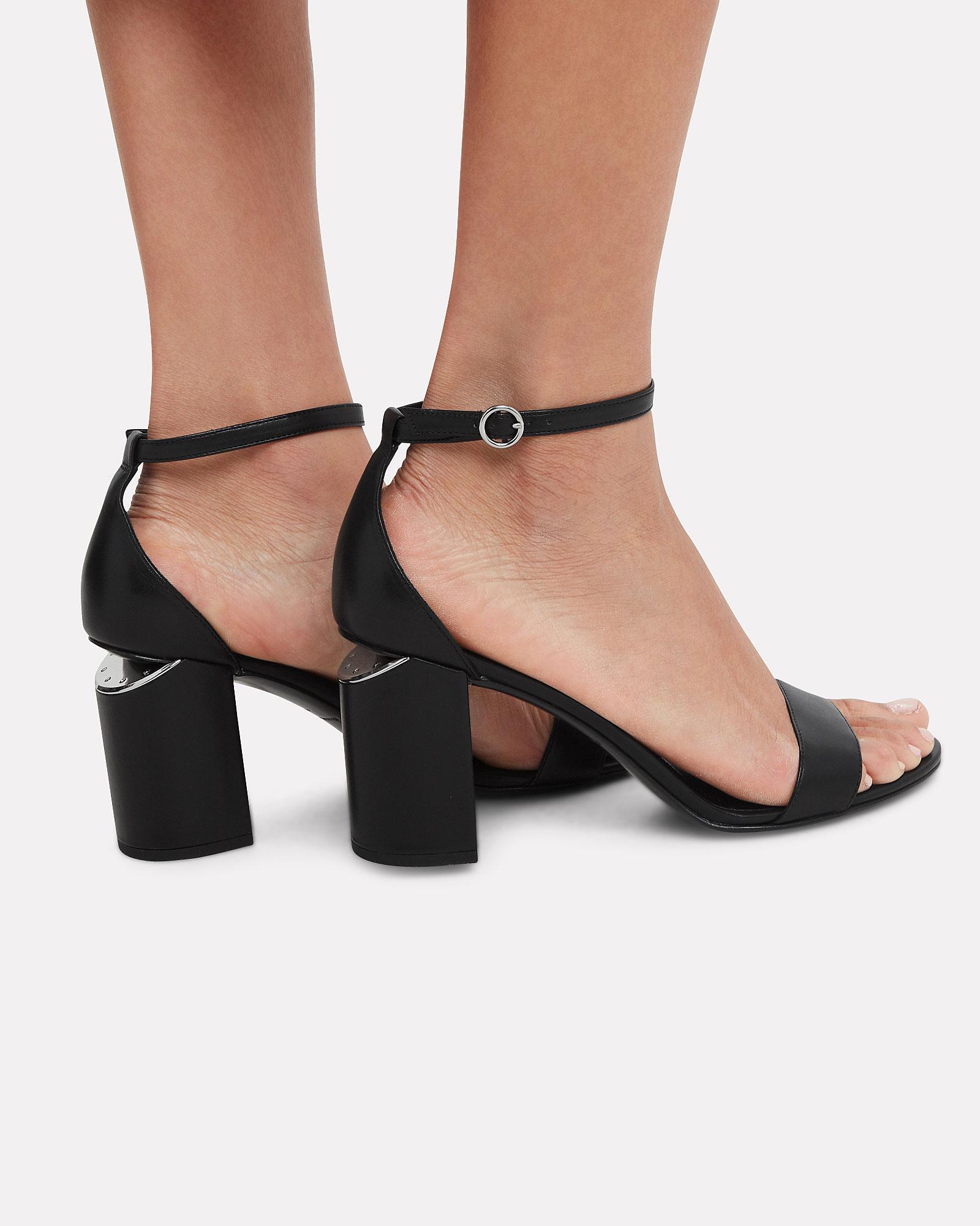 e3b1e64ee99 Lyst - Alexander Wang Abby Cutout Heel Sandals in Black