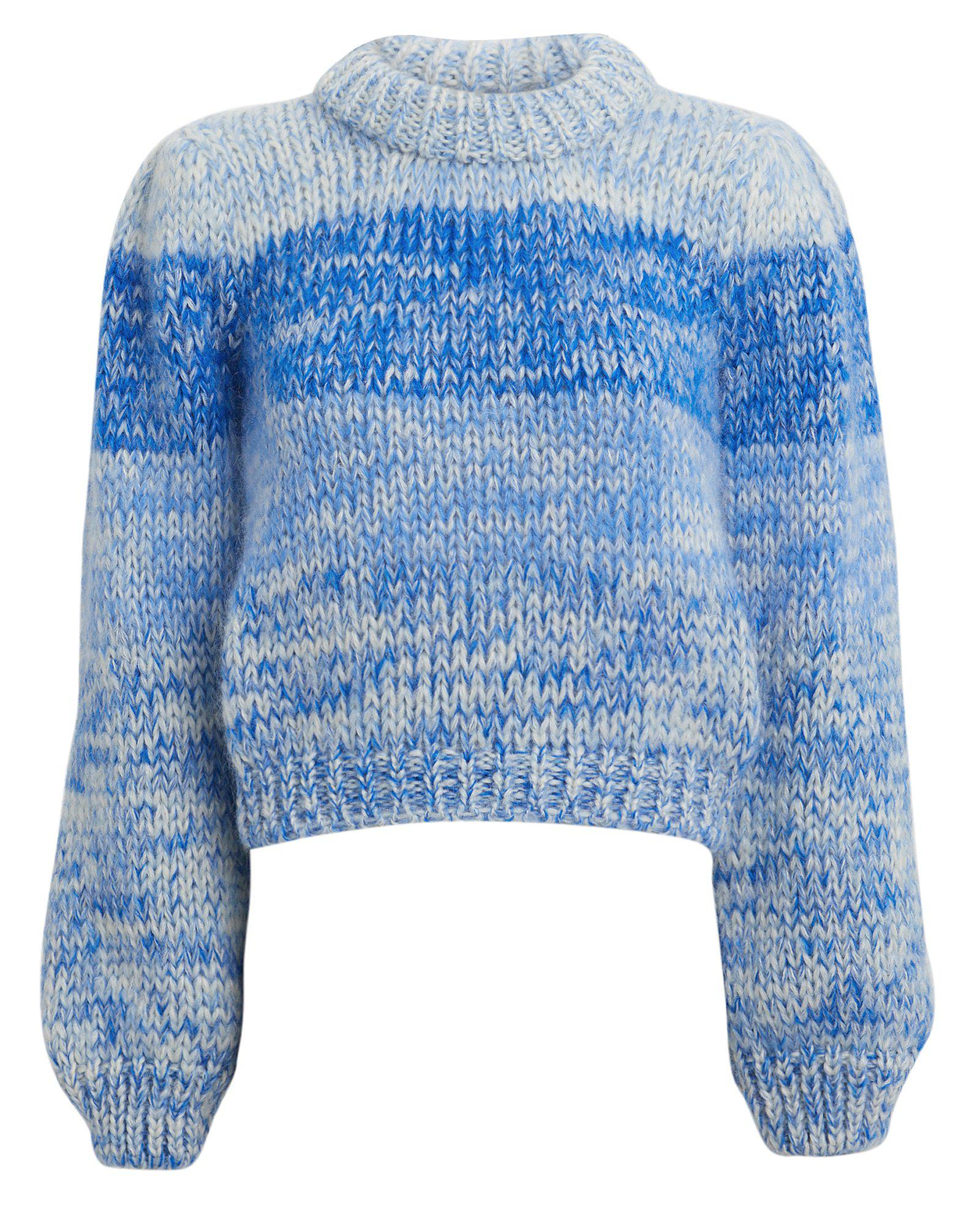 Lyst - Ganni Wool And Mohair Sweater in Blue 6a6a2fc7d