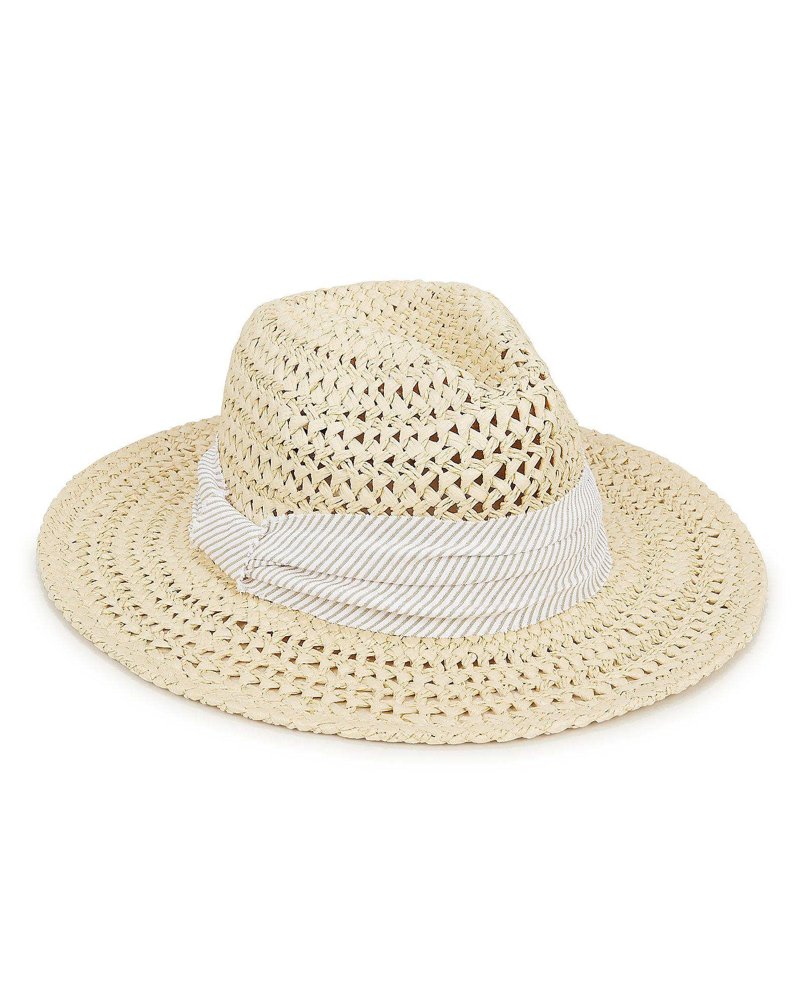 7dbb1ff8065 Lyst - Hat Attack Cane Beige Weave Rancher Hat in Natural