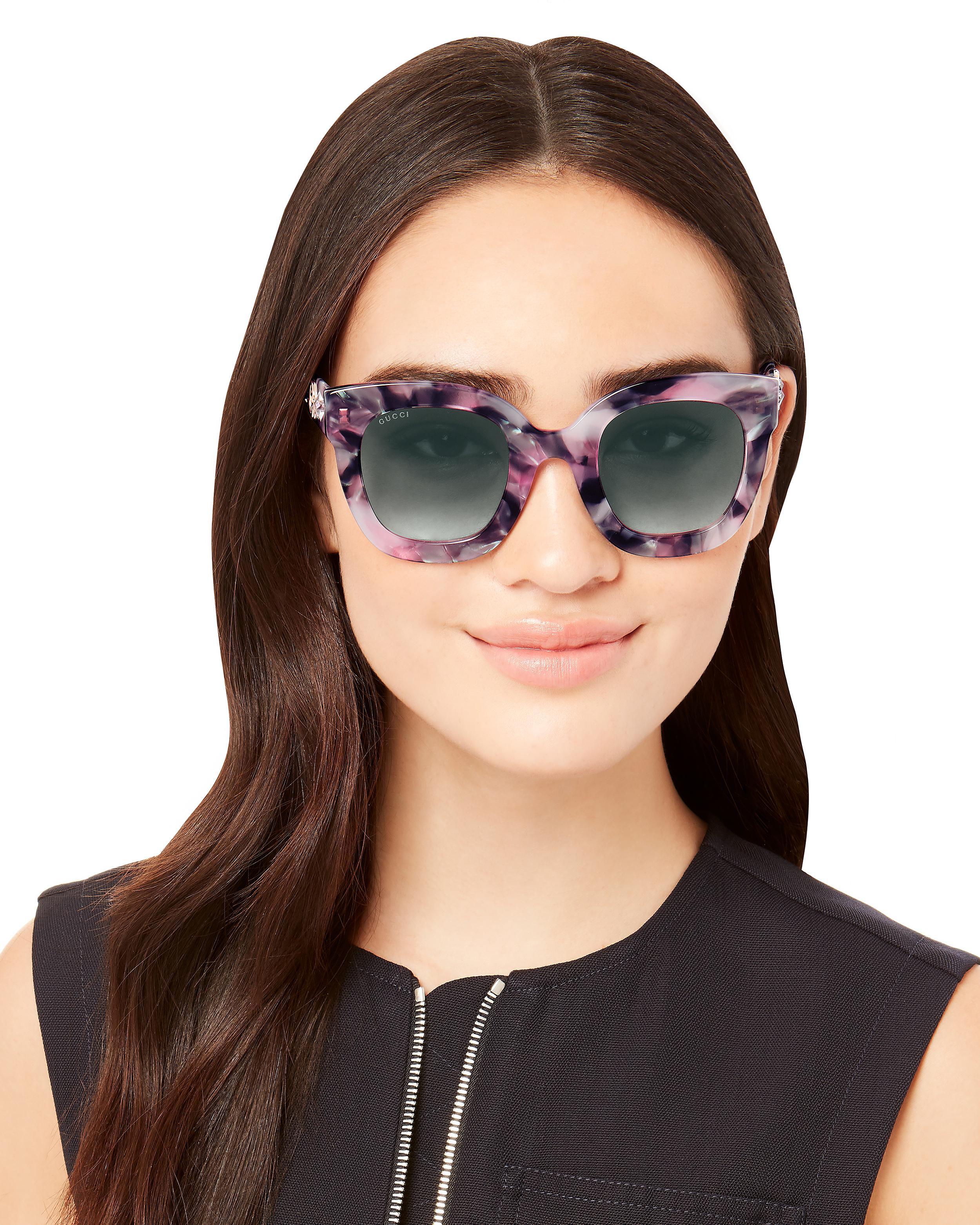 24f032583e2 Gucci Oversized Marble Acetate Sunglasses - Save 4% - Lyst