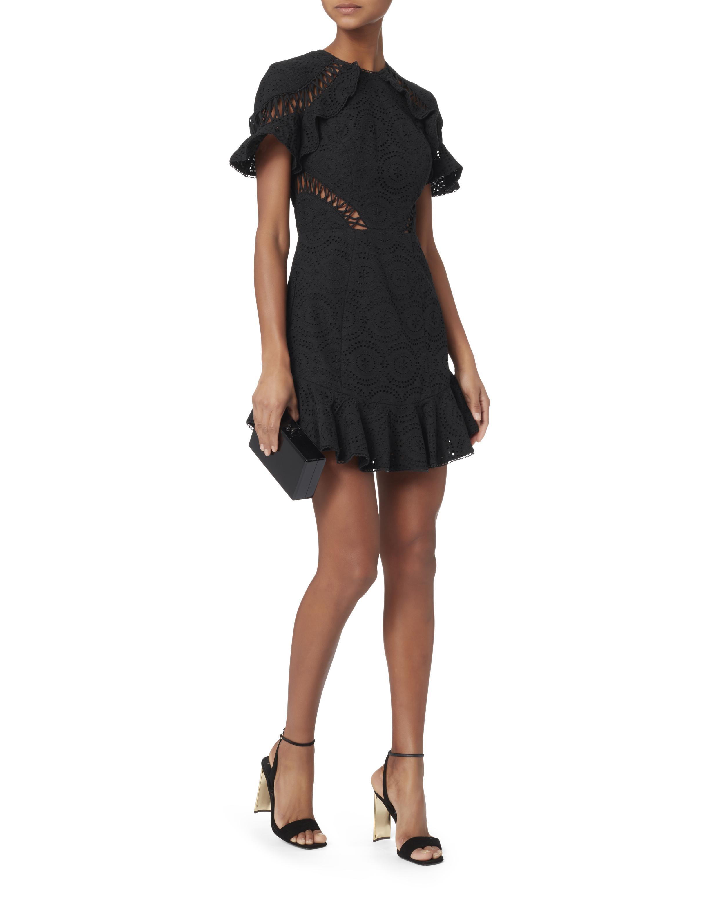 Zimmermann Helm Circle Flutter Mini Dress in Black - Lyst