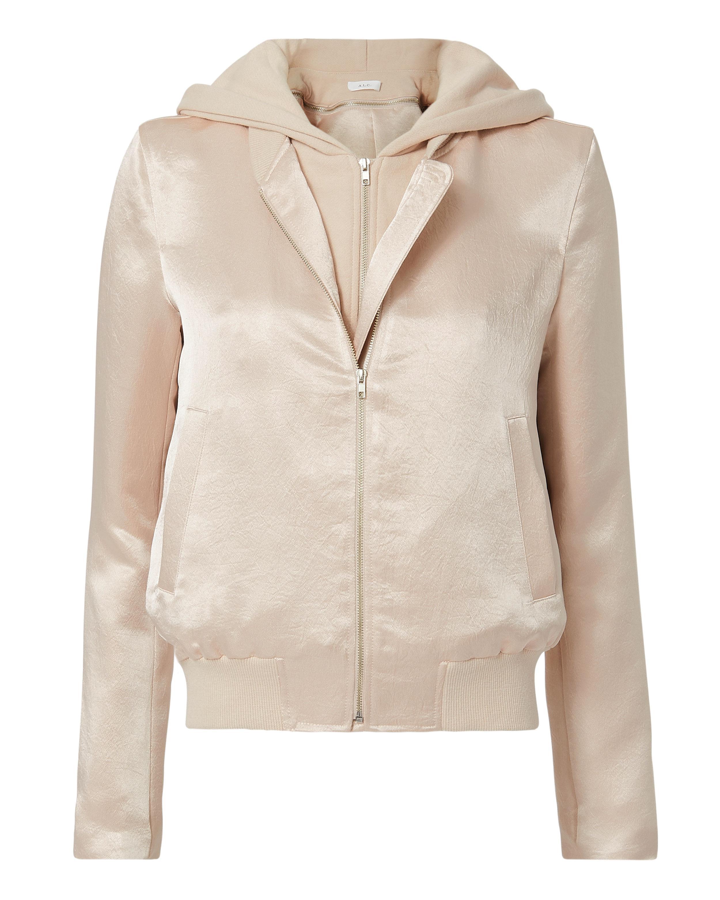 Theo Satin Hooded Jacket A.L.C. Popular Sale Online JZCkW