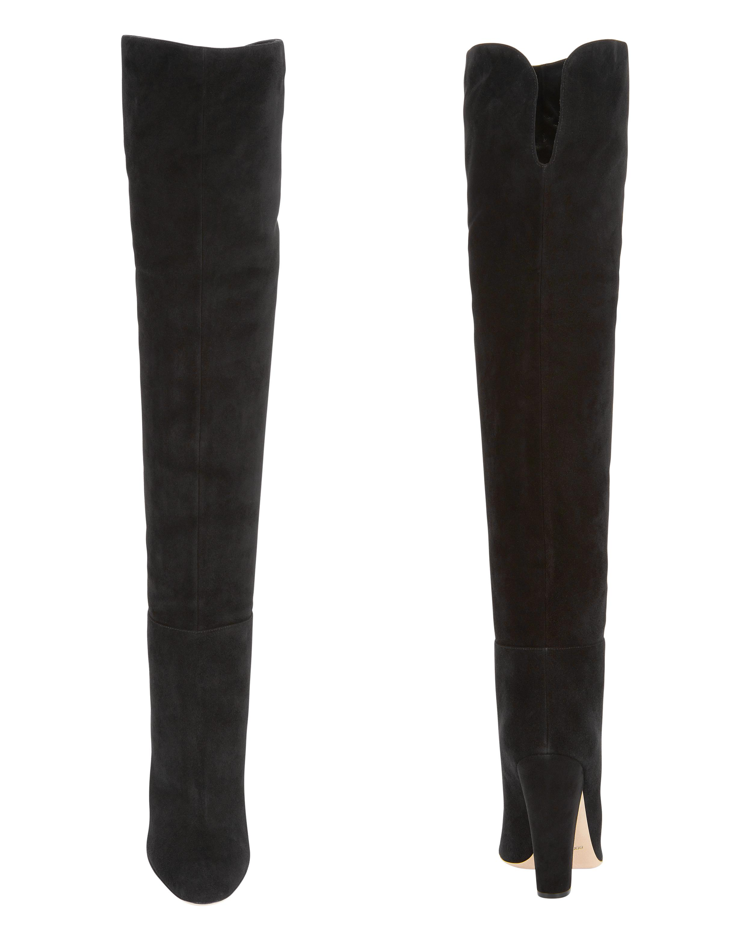 8426d2daaa5 Lyst - Sergio Rossi Virginia Suede Over-the-knee Boots in Black