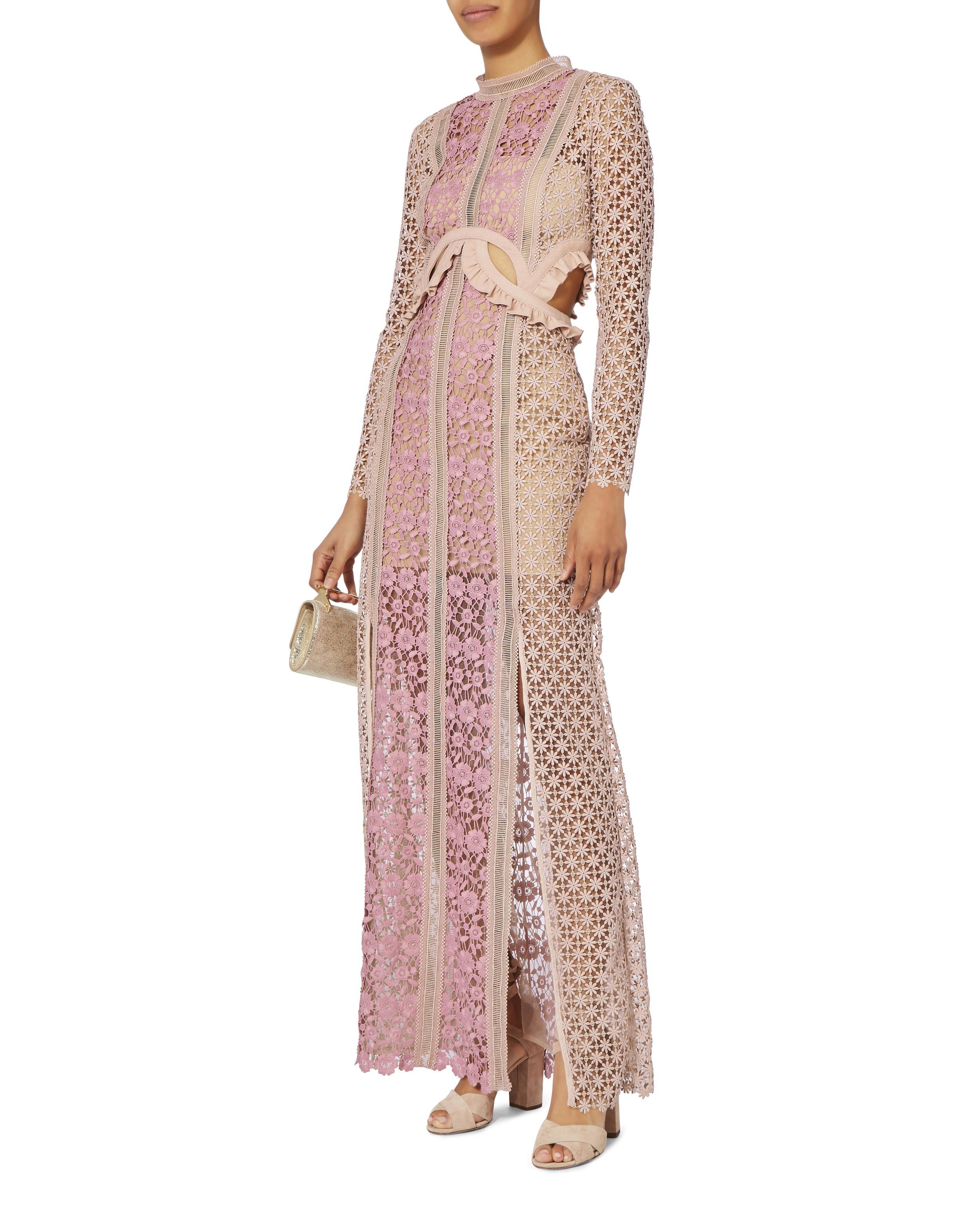 511146c0d5741 Self-Portrait Payne Cutout Maxi Dress - Lyst