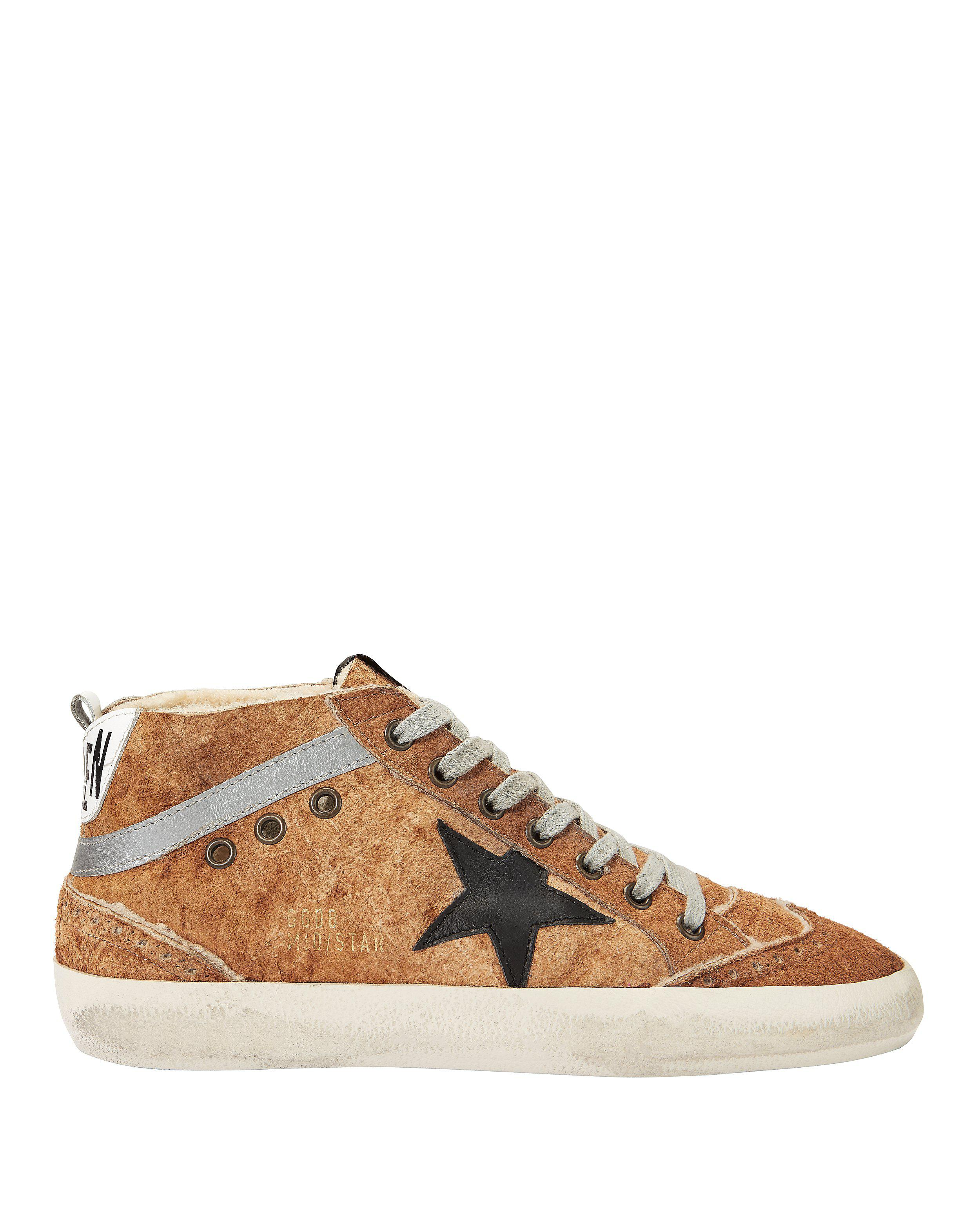 5715ac922ee78 Lyst - Golden Goose Deluxe Brand Mid Star Brown Leather And ...