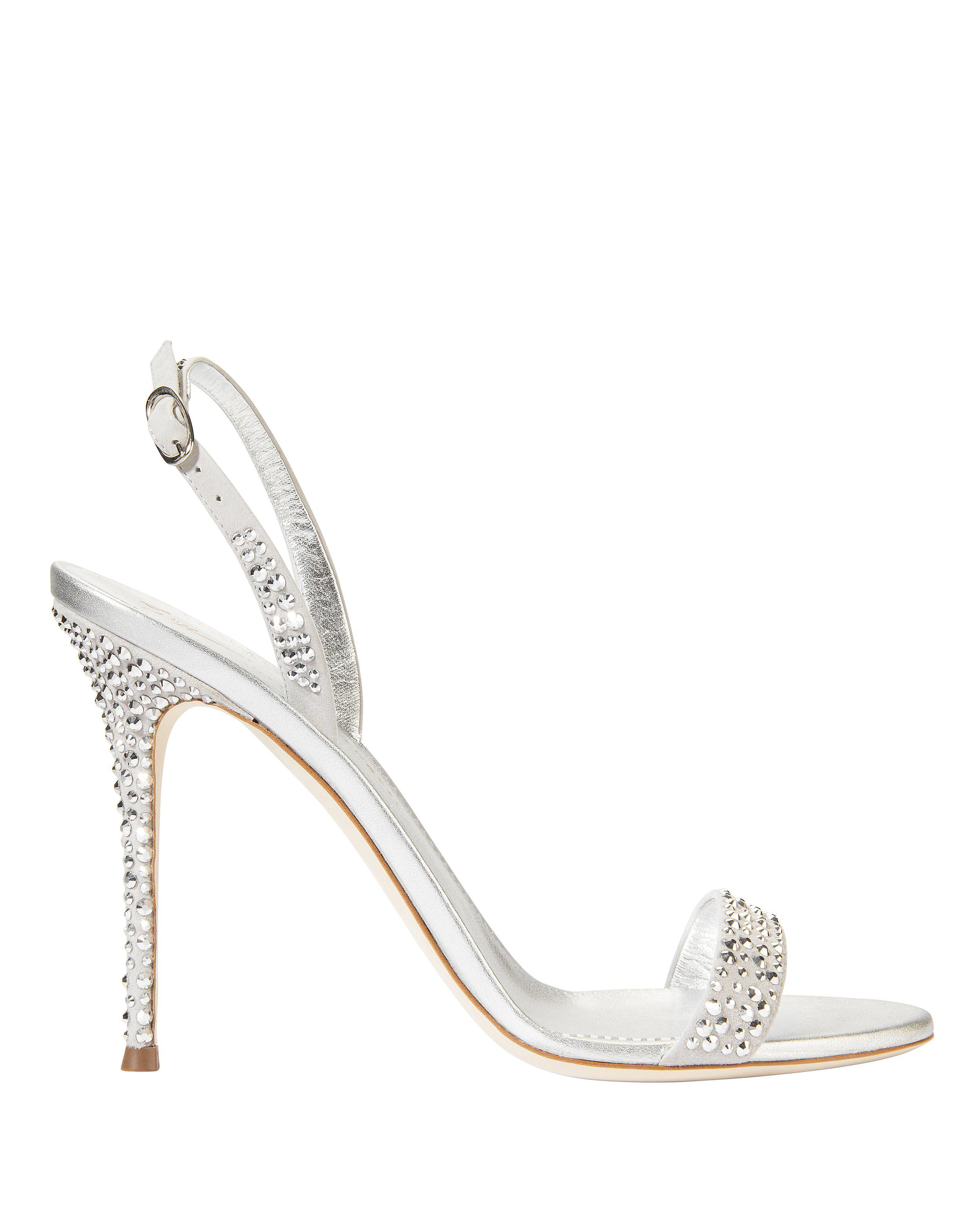28d03e7cd Lyst - Giuseppe Zanotti Adaile Stiletto Sandals in Metallic