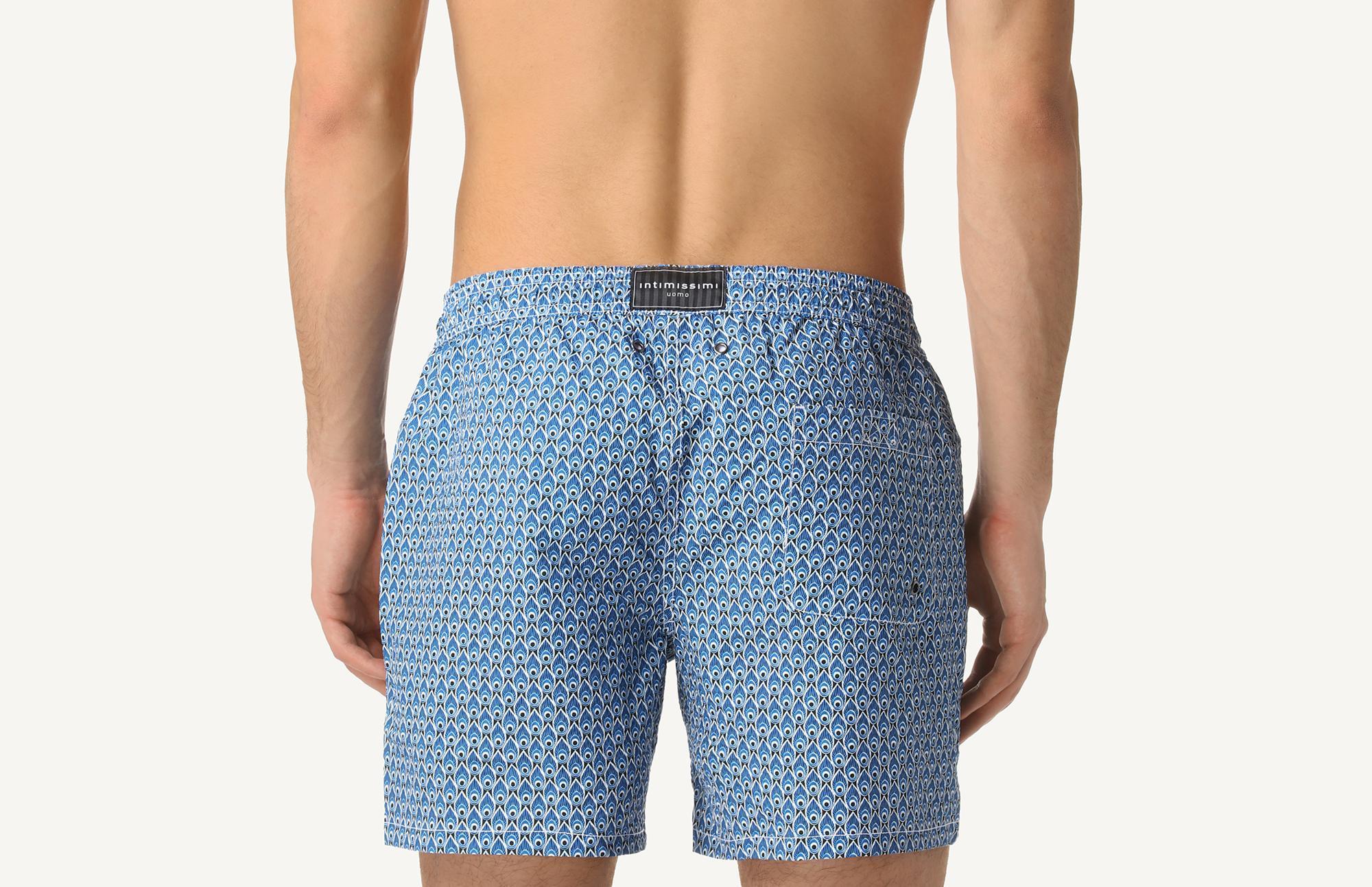 b617aeef14 Intimissimi - Blue Foulard Print Mid-length Swim Shorts for Men - Lyst.  View fullscreen