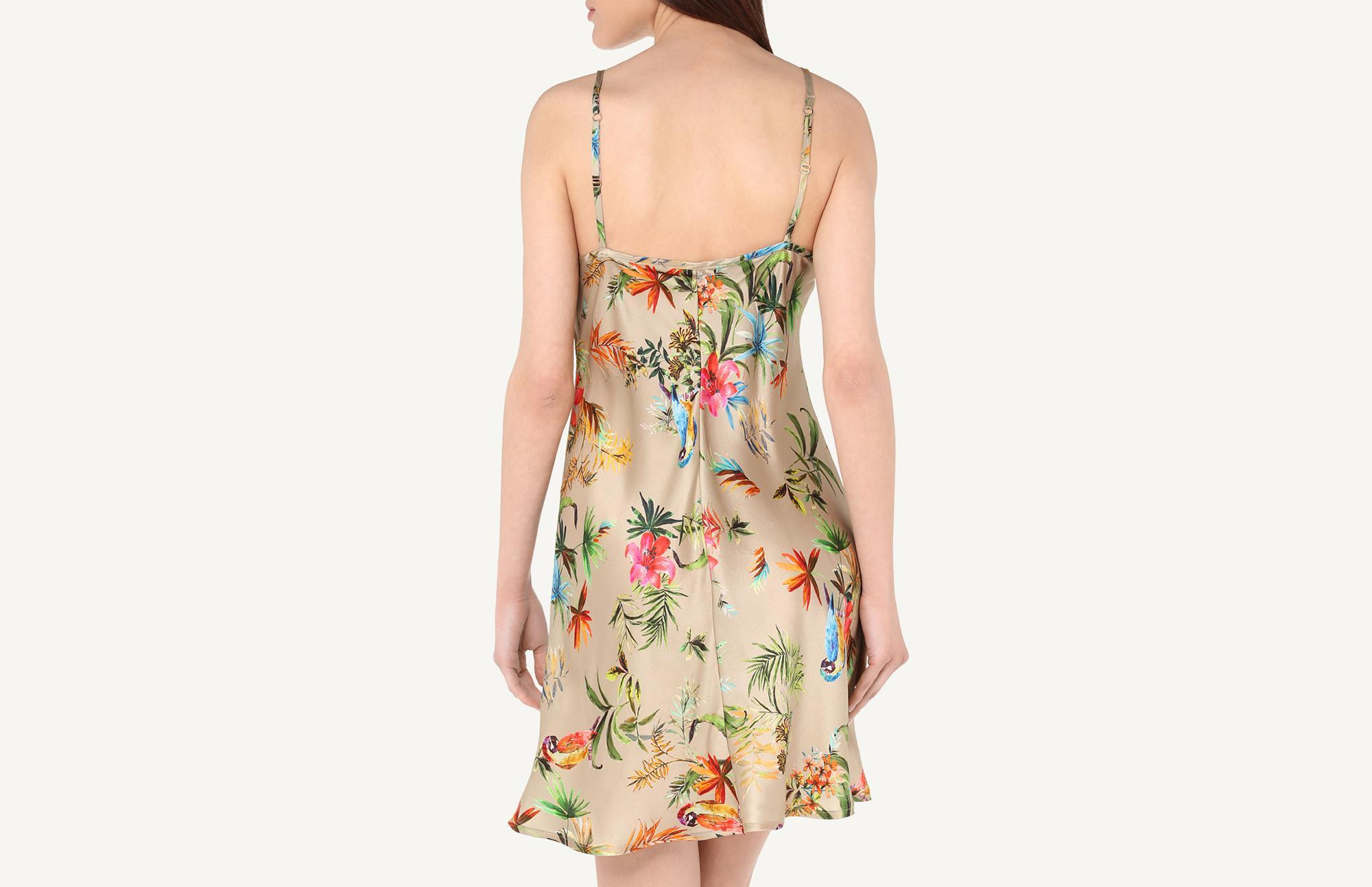 7713e3aa2cb6 Intimissimi - Multicolor Jungle Parrots Silk Satin Slip - Lyst. View  fullscreen