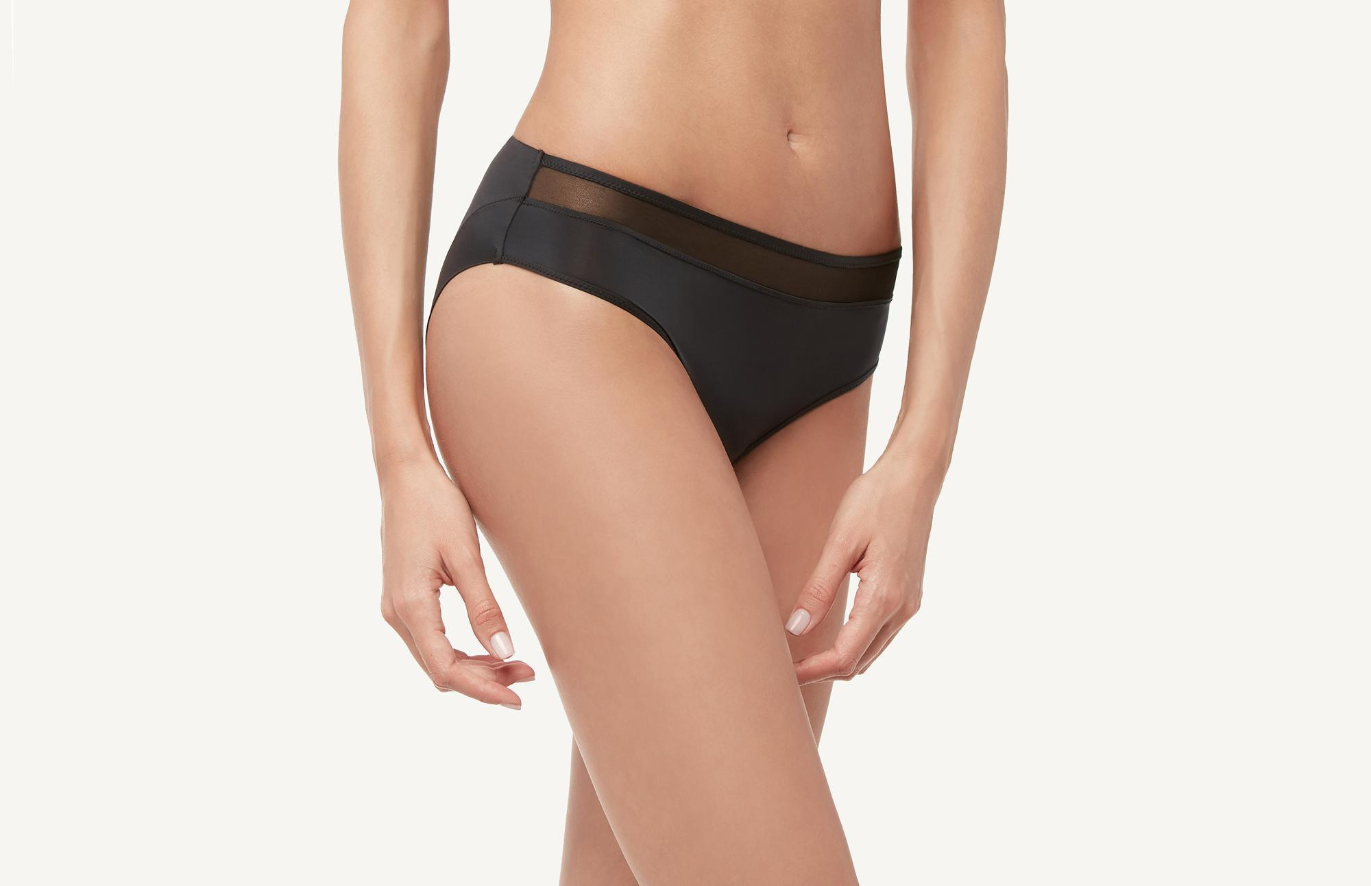 90dff0167a1e7 Intimissimi. Women s Black Ultra-lightweight Microfiber And Tulle Hiphuggers