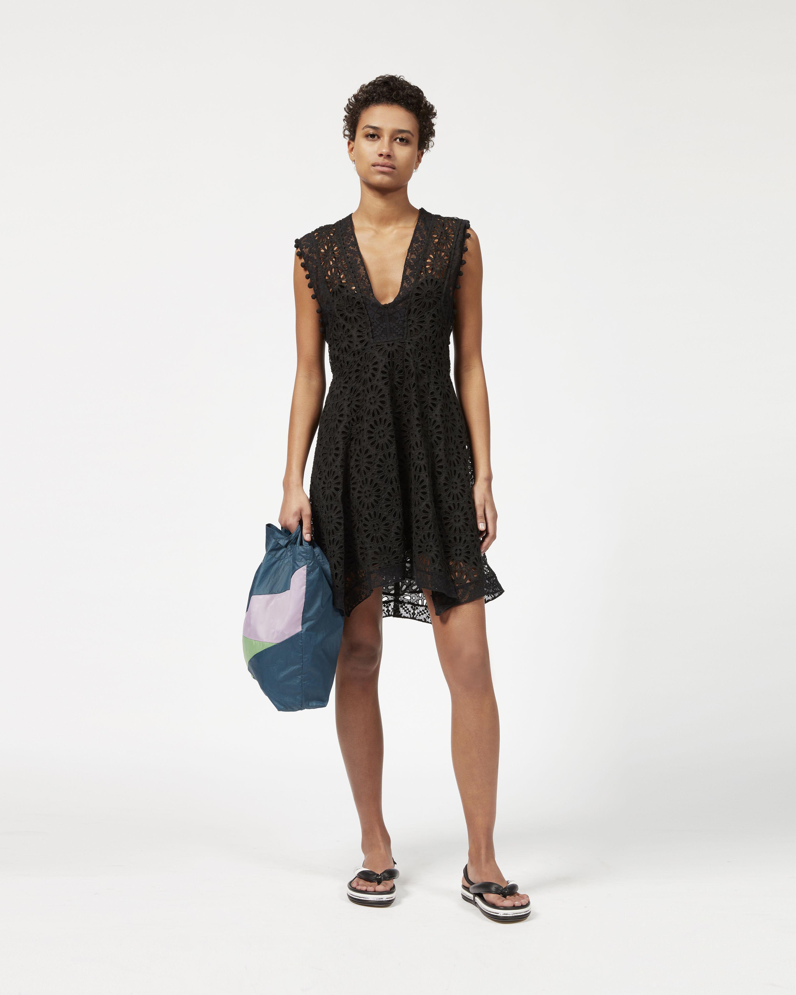 Womens Kierra Eyelet A-Line Dress Isabel Marant Discount Latest Cheap 100% Authentic ZFr7K55WC