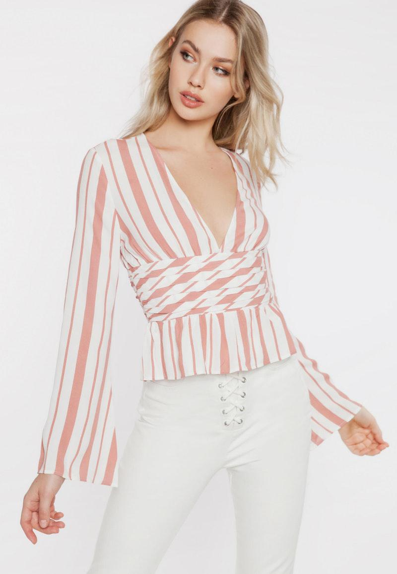 491f4f1c9ae Ivyrevel Alexa Blouse Stripe Pink White in Pink - Lyst