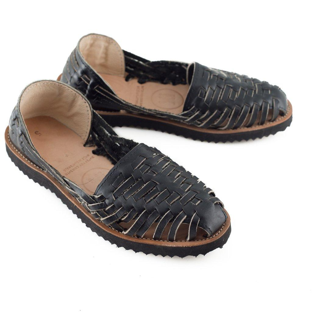 Excellent Ix Style Women39s Black Woven Leather Huarache Sandals In Black  Lyst