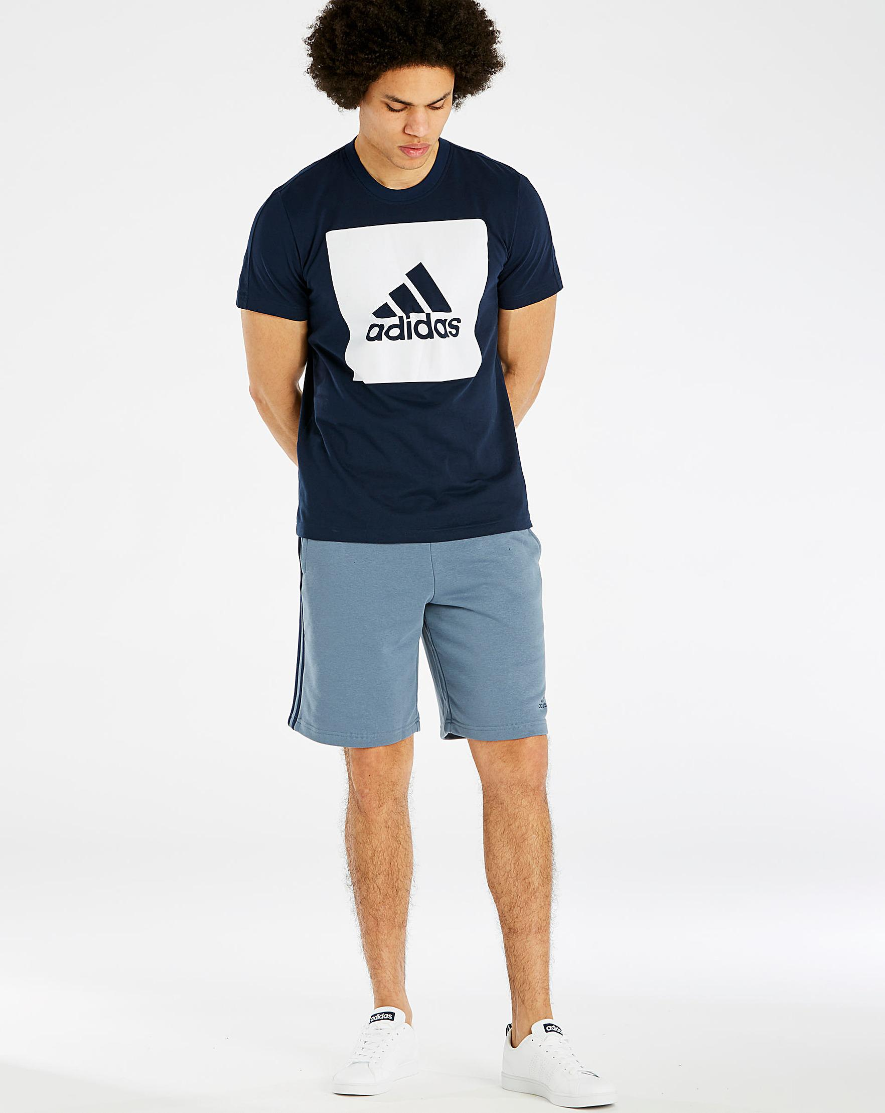 wholesale dealer e6e7f dec99 Adidas Big Logo Tee in Blue for Men - Lyst
