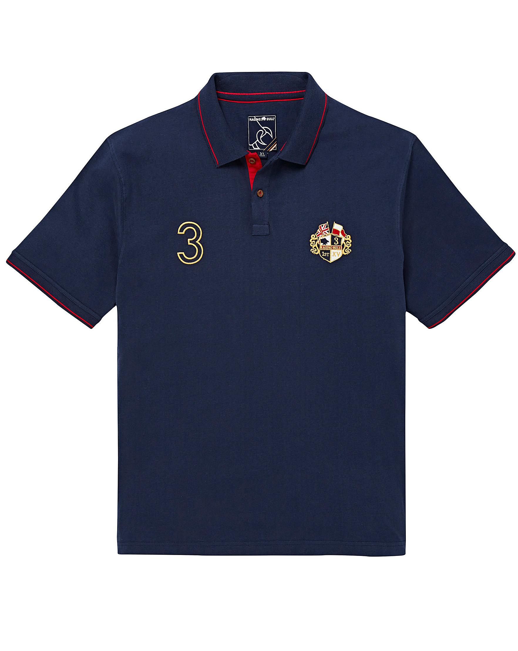 e945e663 Raging Bull Mighty Crest Polo Shirt in Blue for Men - Lyst