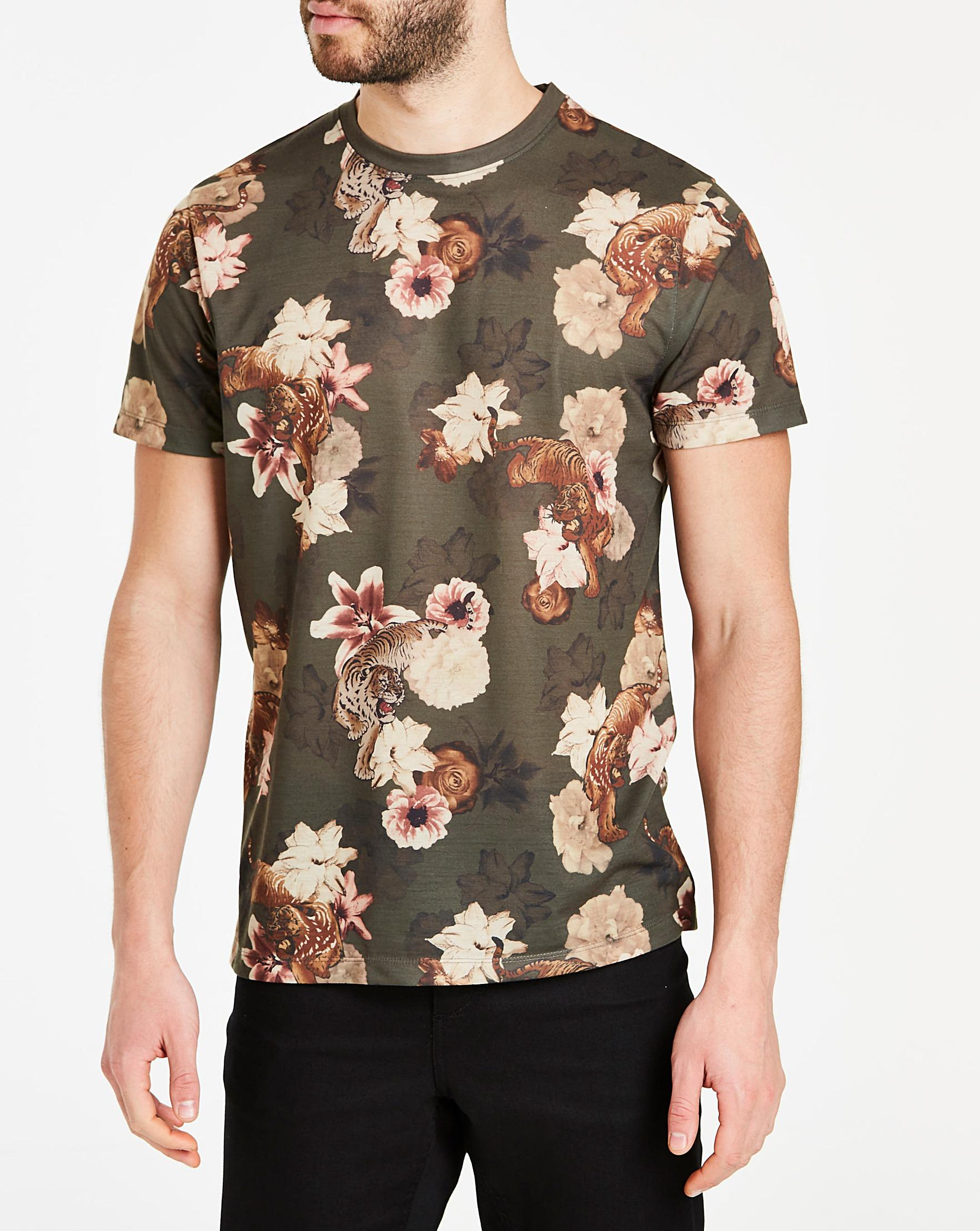 5339d1ef5 Jacamo - Multicolor Tiger Print Sublimation T-shirt L for Men - Lyst. View  fullscreen