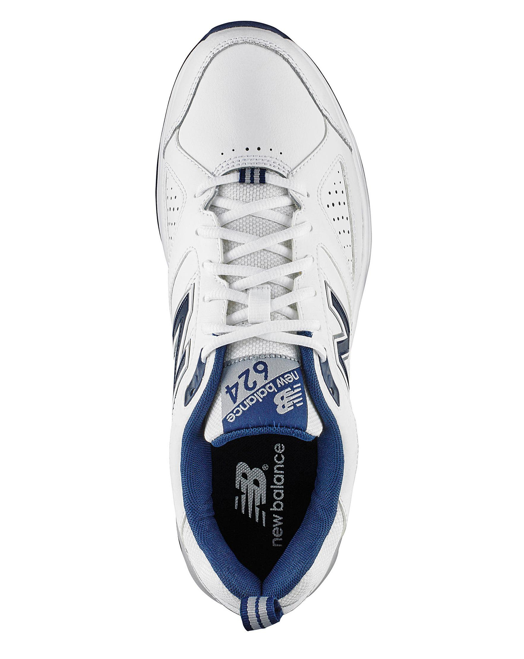e4bc025d4 New Balance Mx624 Lace Trainers Wide Fit in White for Men - Lyst