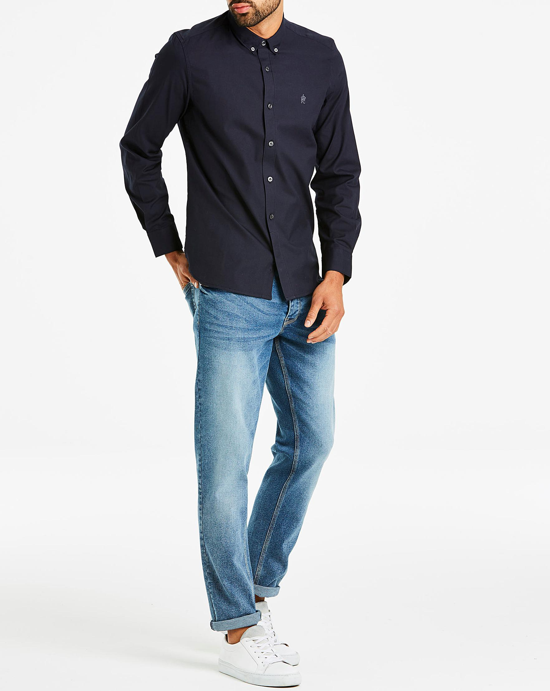 a366ed463ad French Connection Oxford Shirt in Blue for Men - Lyst