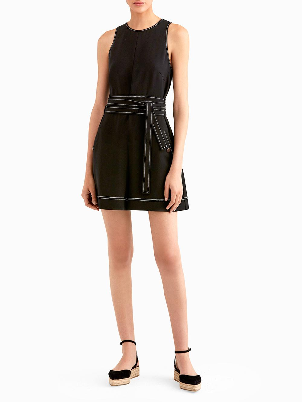 8c061bbce23c Lyst - Jason Wu Double Tie Romper With Top Stitching Detail in Black